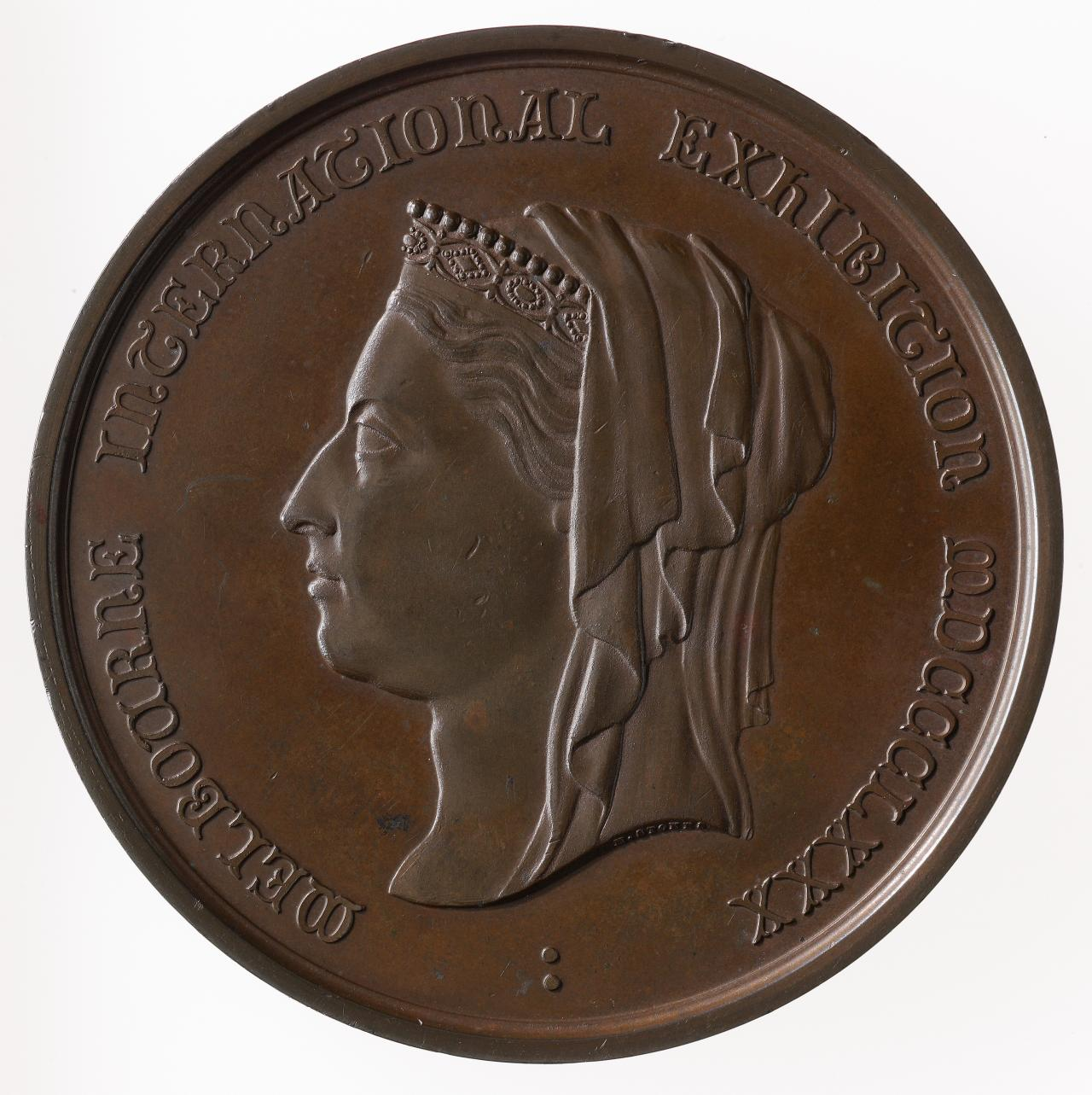 International Exhibition, Melbourne, commemorative medal