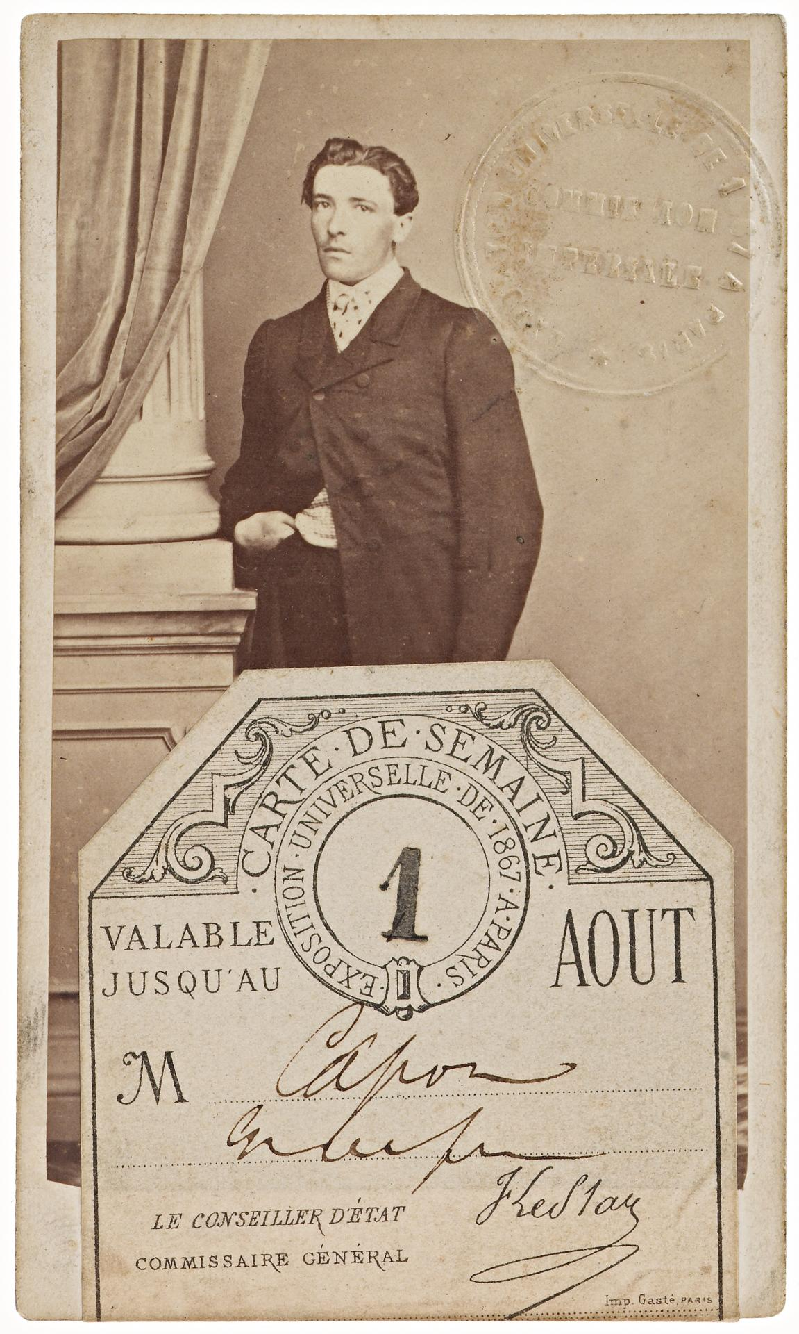 Universal Exposition Paris 1867, weekly ticket