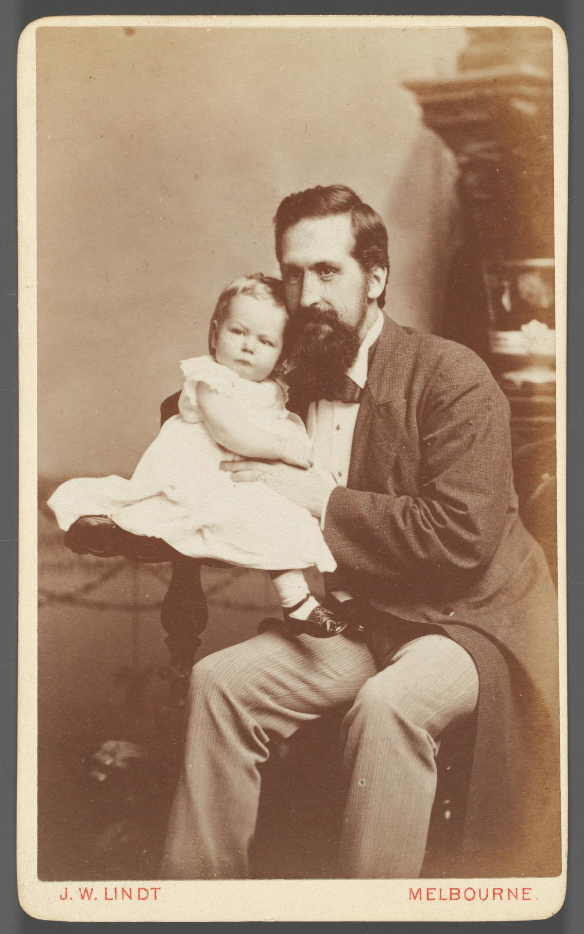 No title (Father and baby), carte-de-visite