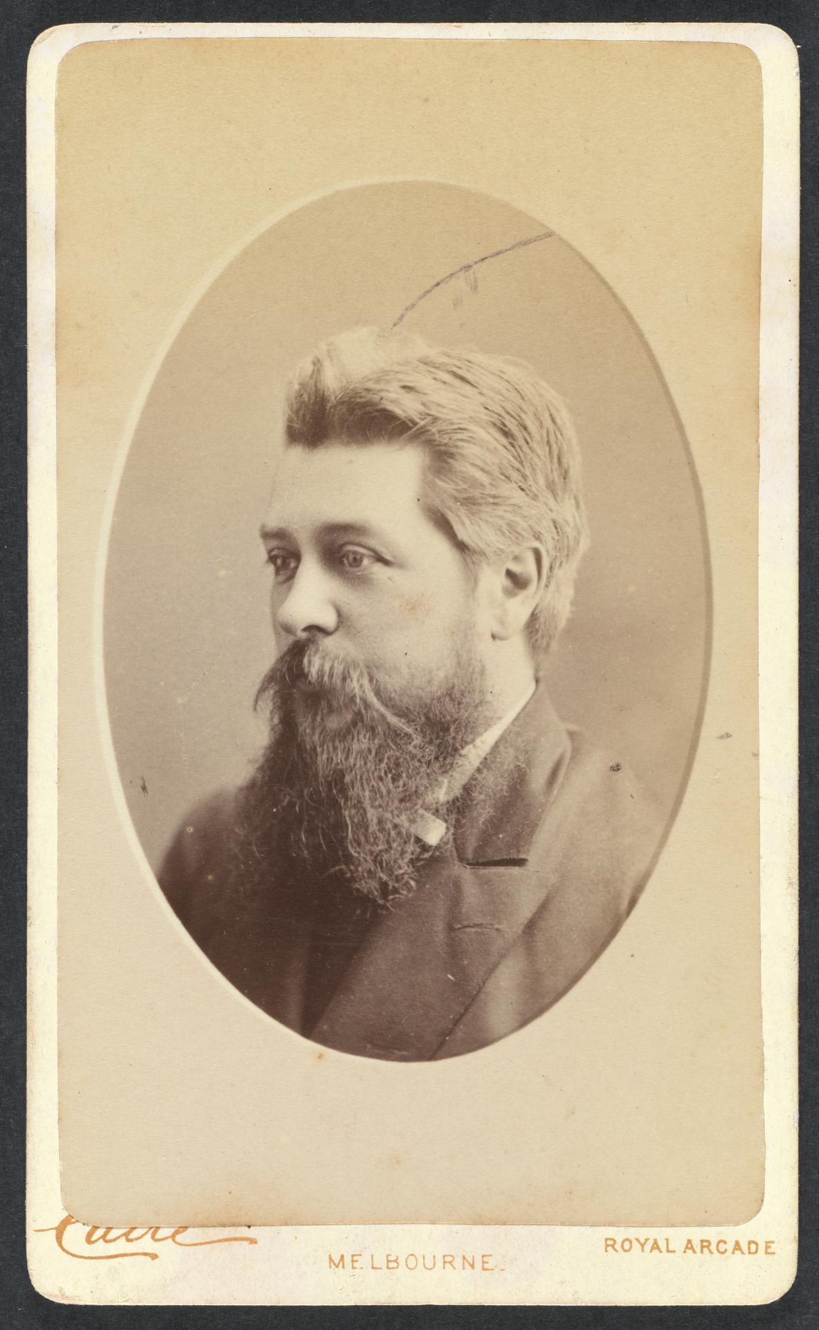 No title (Bearded man), carte-de-visite