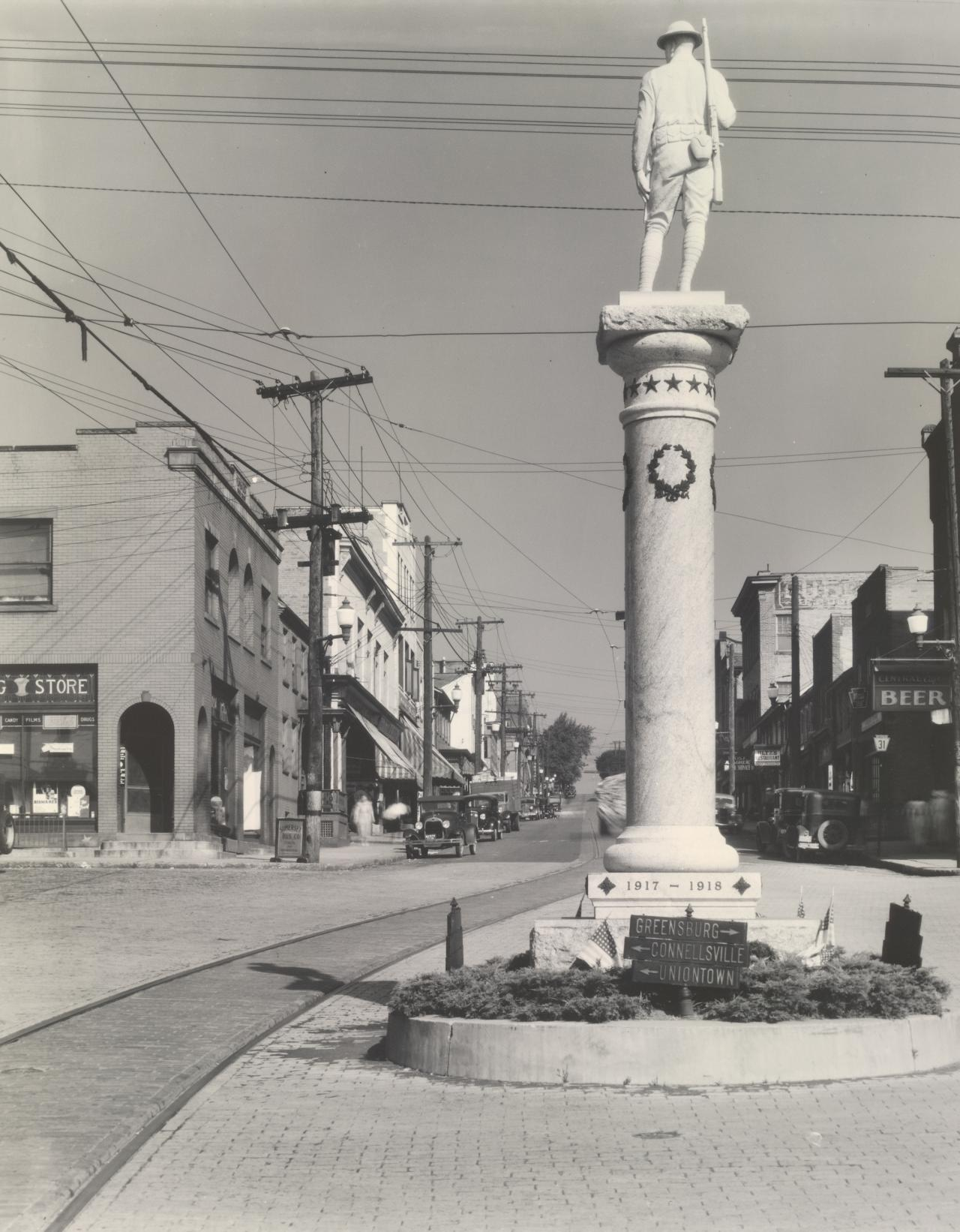 World War I Monument on Main Street, Mount Pleasant, Pennsylvania