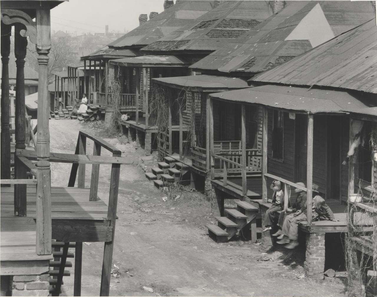 Scene in the Negro quarter, Atlanta, Georgia