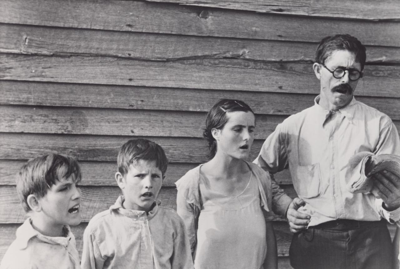 Sunday singing, Frank Tengle's family, Hale County, Alabama