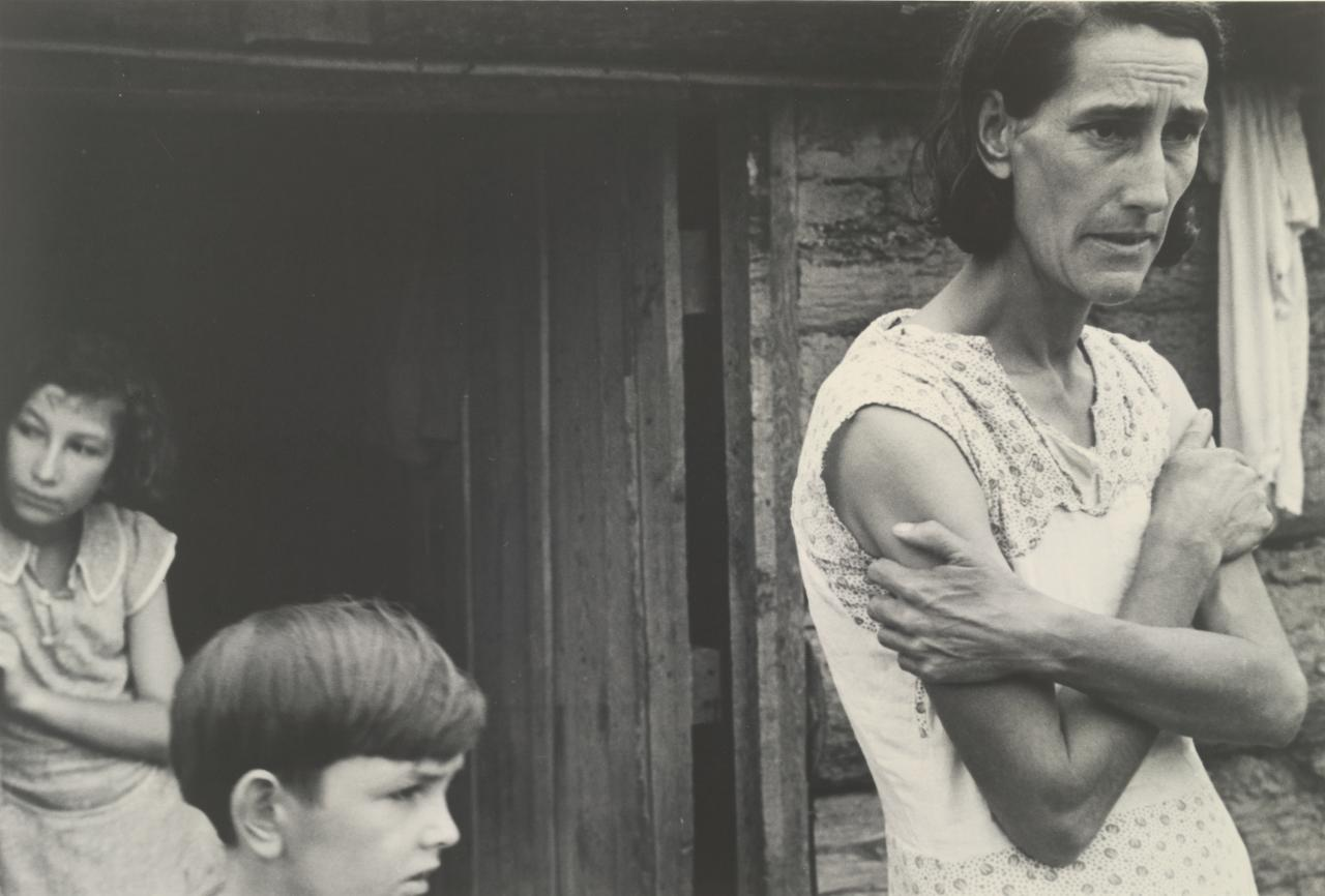 Boone County, Arkansas. The family of a Resettlement Administration Client in the doorway of their home