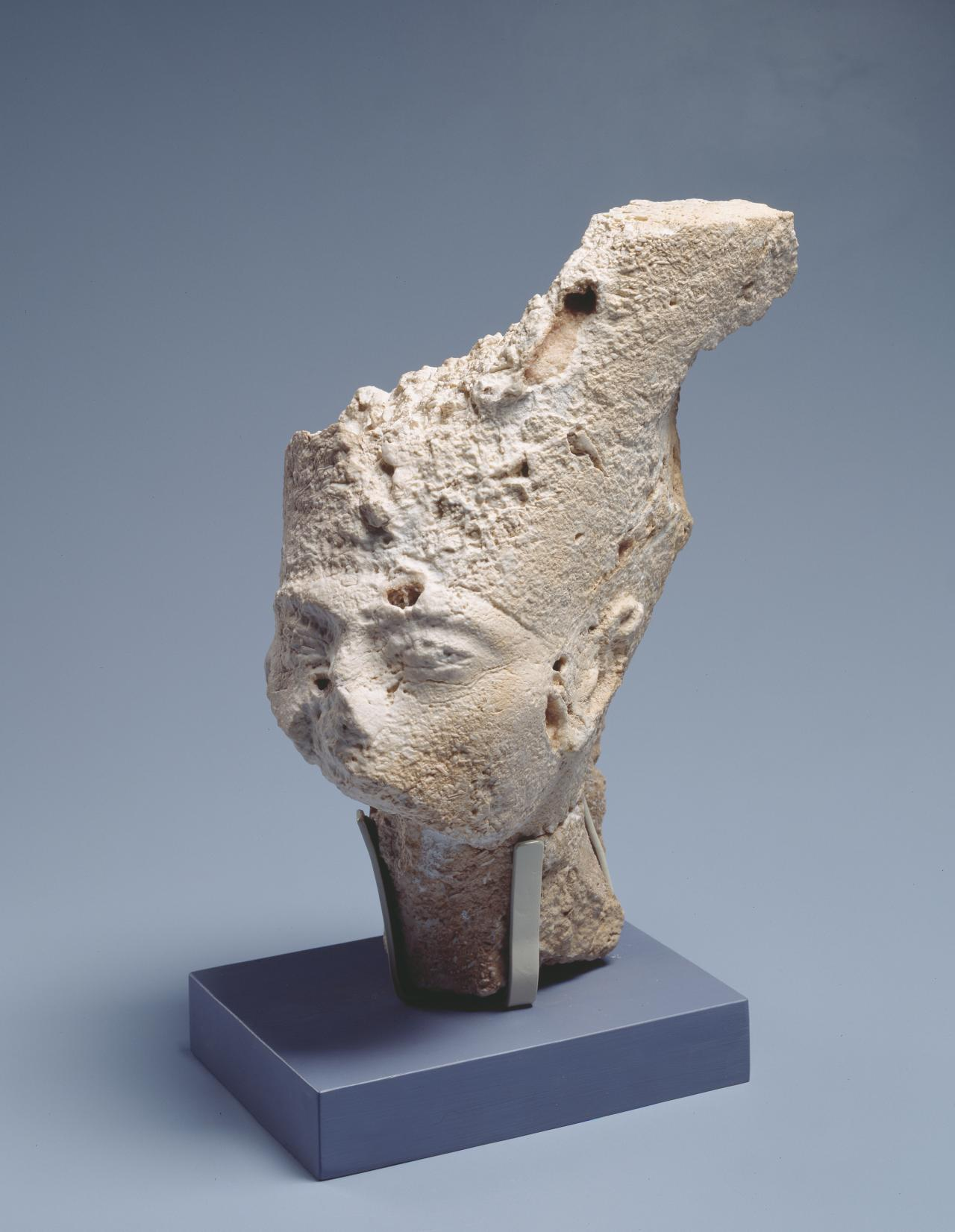 Head of Queen Nefertiti, from sculpture flanking Boundary Stela Q