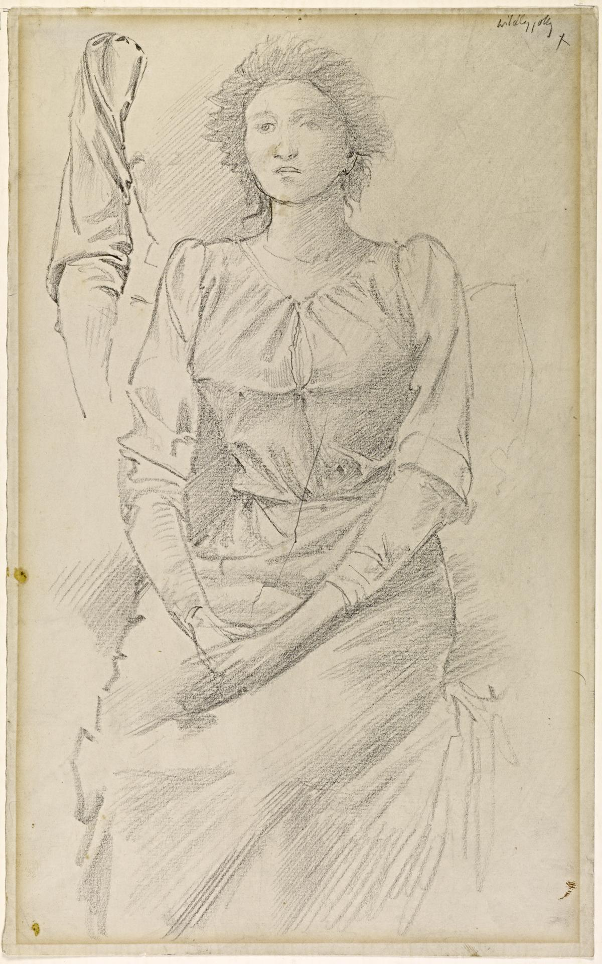 Study for Portrait of Baronne Madeleine Deslandes