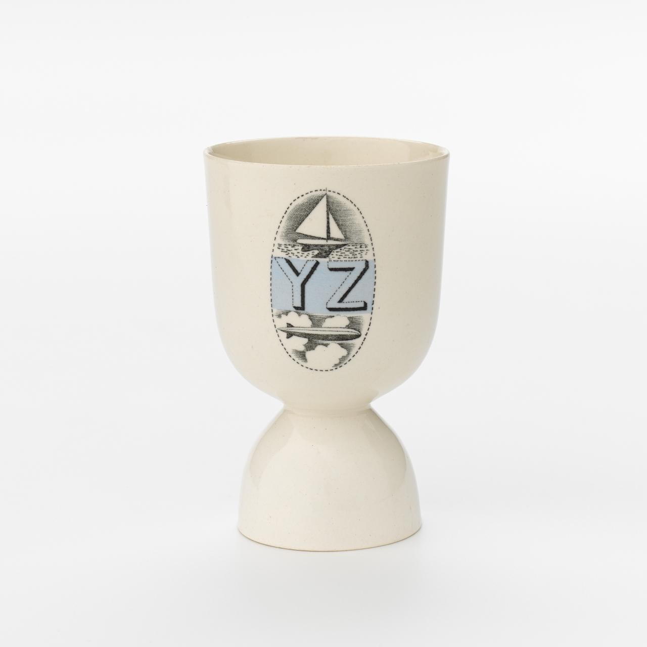 Alphabet pattern, double egg cup