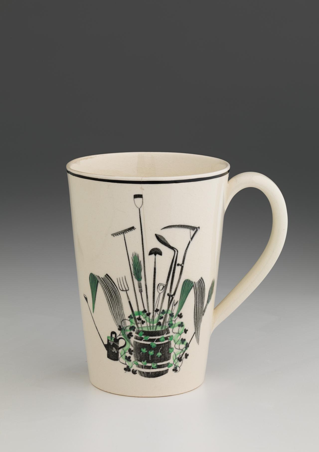 Garden implements pattern, Lemonade set, beaker