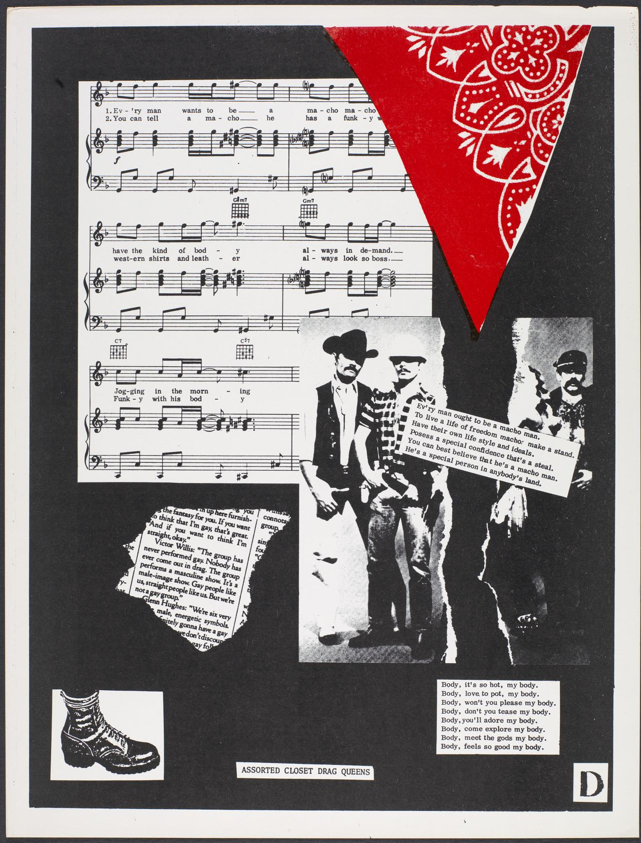 (Sheet music and red scarf)