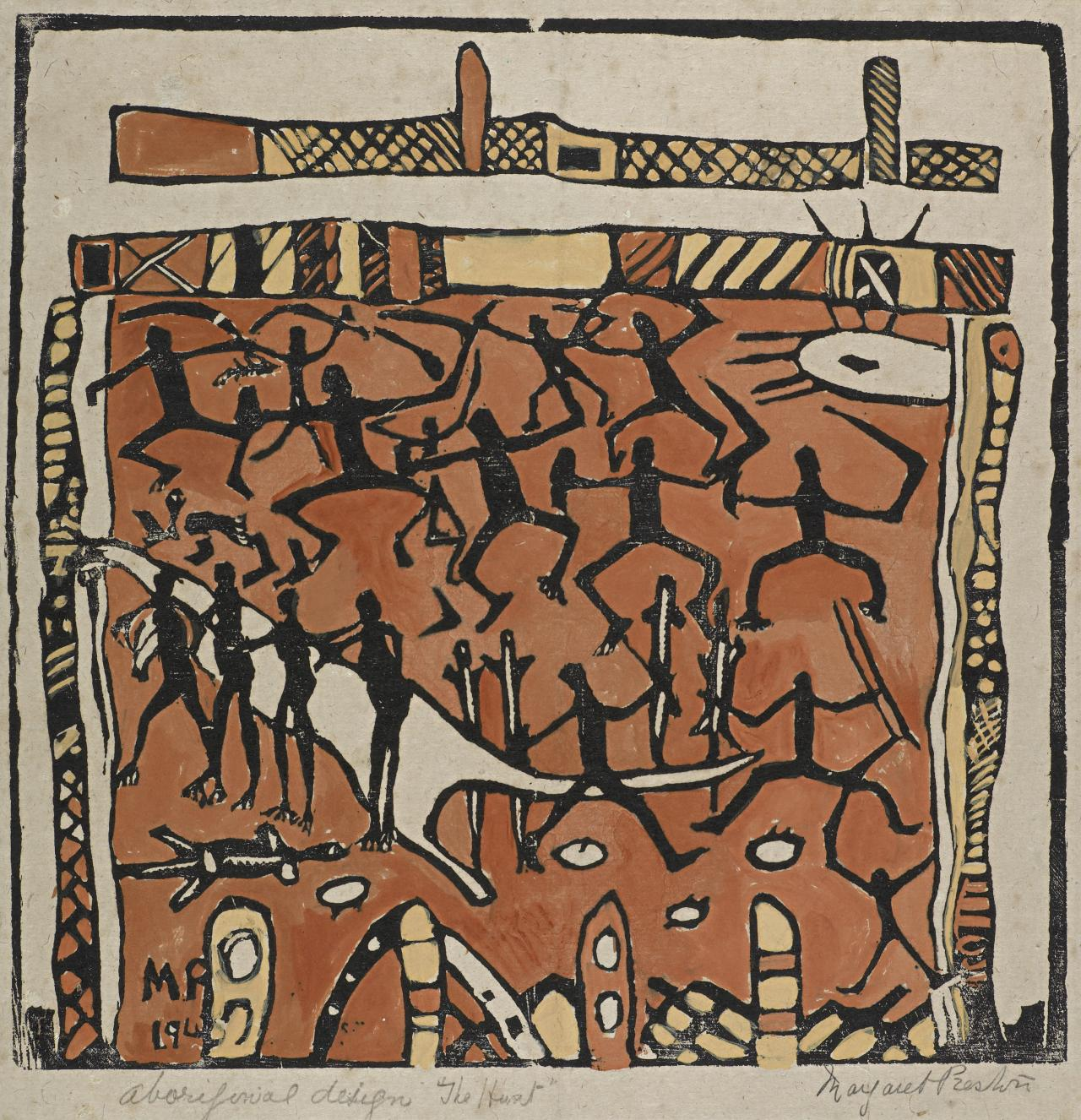 Aboriginal design - The hunt