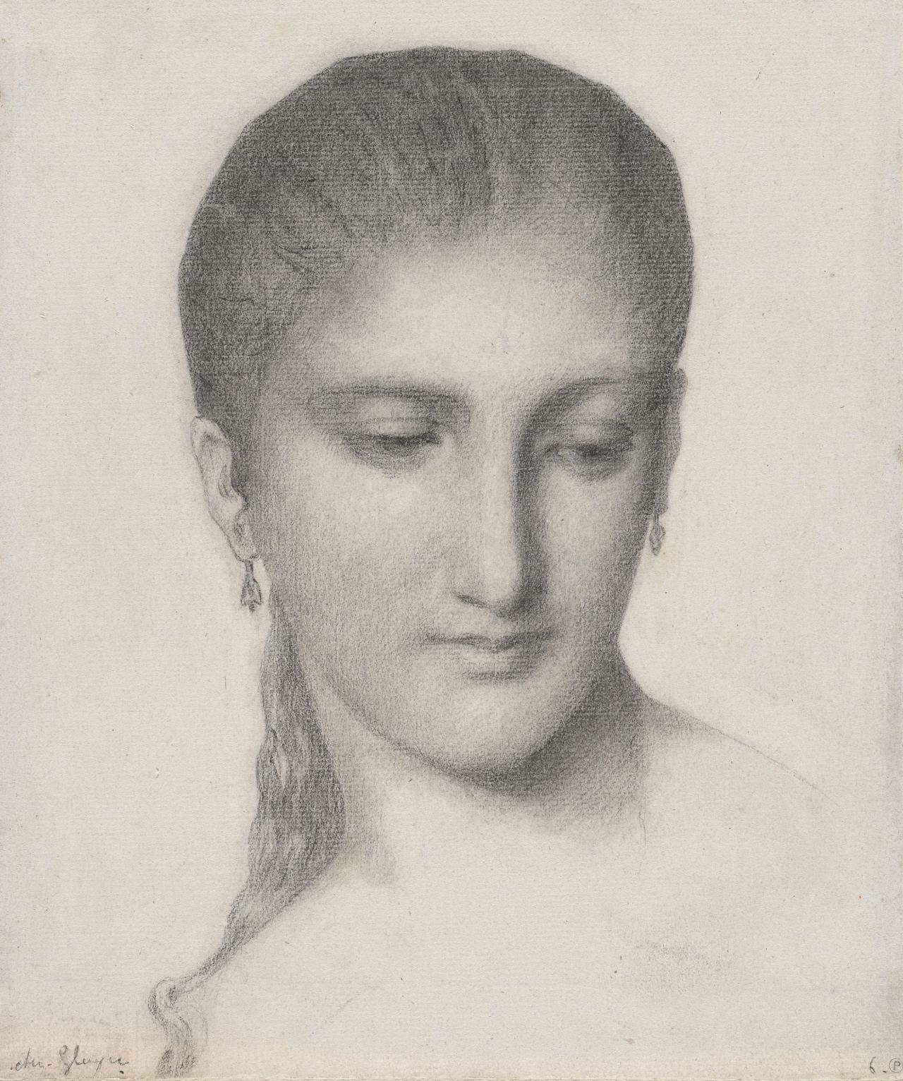 Head of a woman, turned toward the right