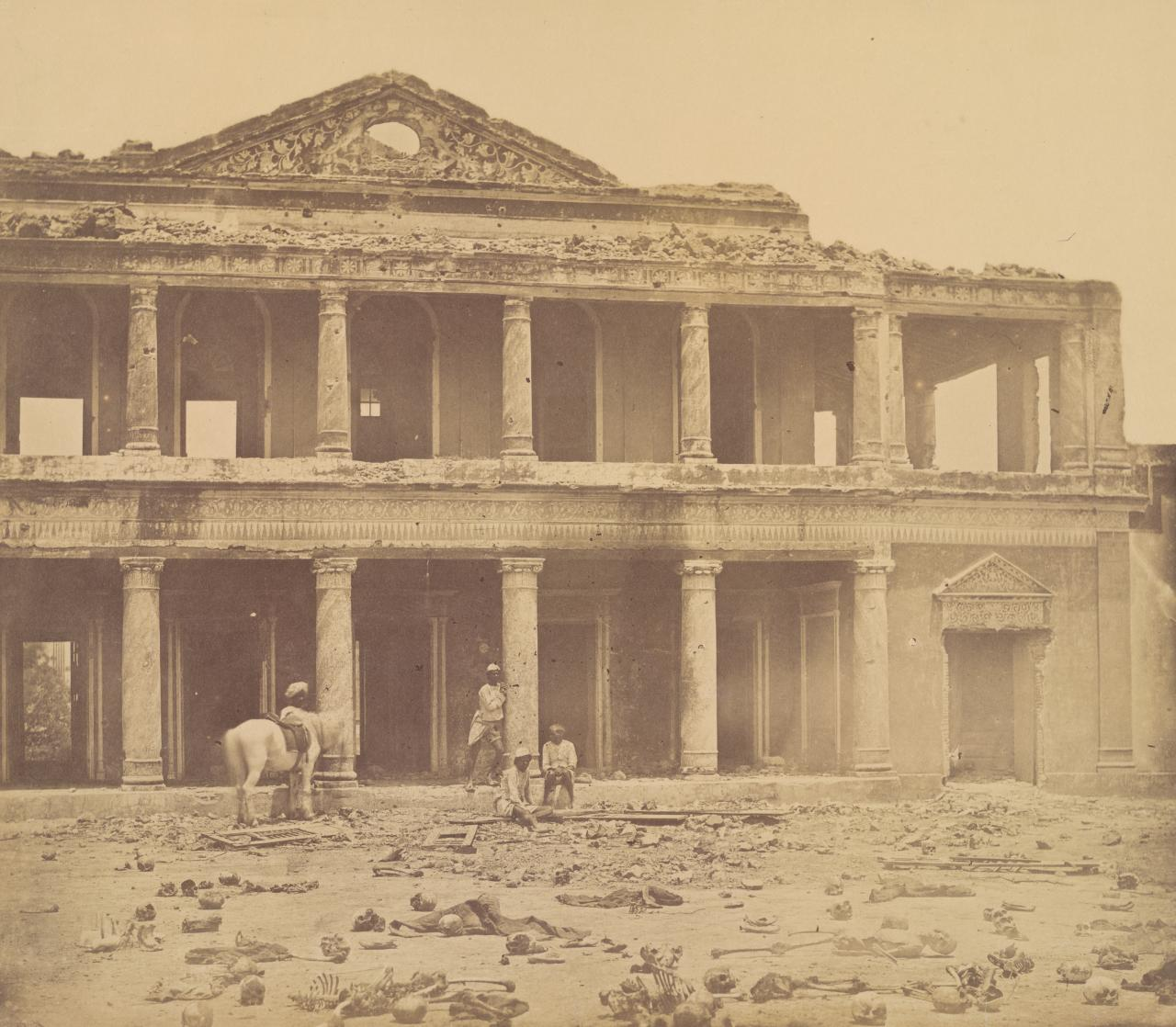 Interior of the Secundra Bagh after the slaughter of 2000 rebels by H. M. 73rd Highlanders, Lucknow, 24th Punjab Infantry
