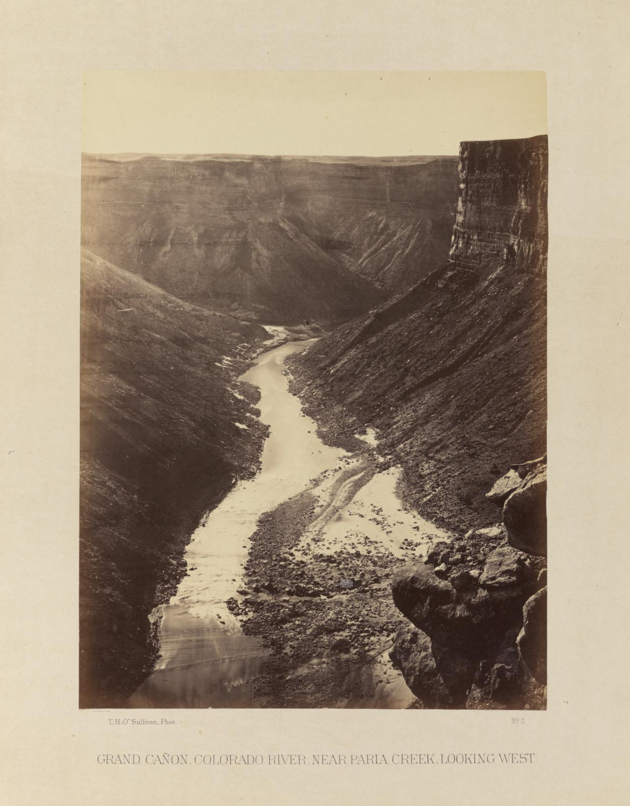 Grand Canyon, Colorado River, near Paria Creek, looking west