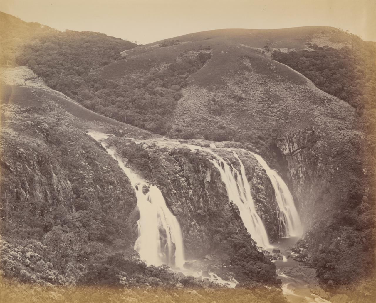 Lower Falls, Pykarah River, from the summer house in Government Garden