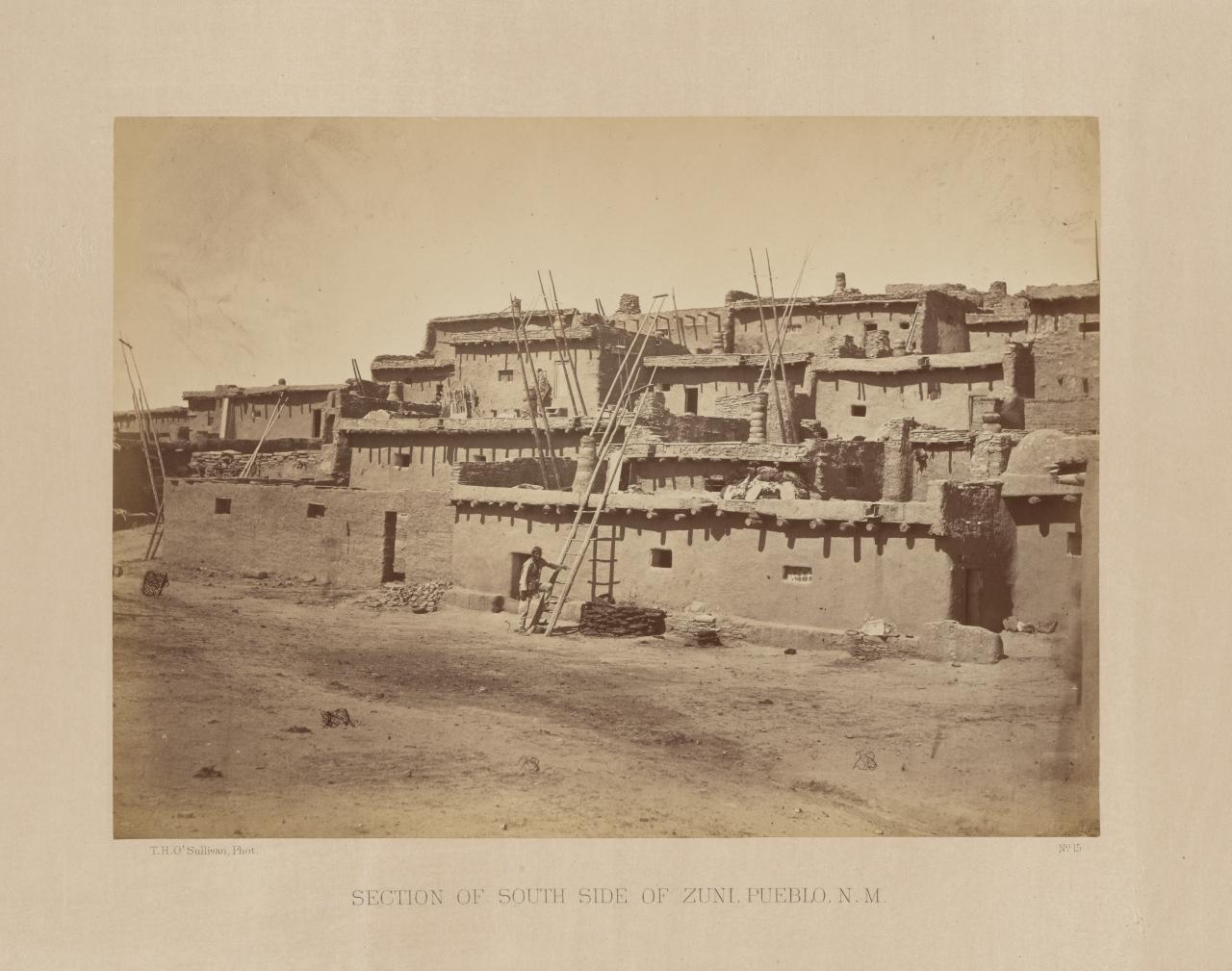 Section of south side of Zuni, Pueblo, New Mexico