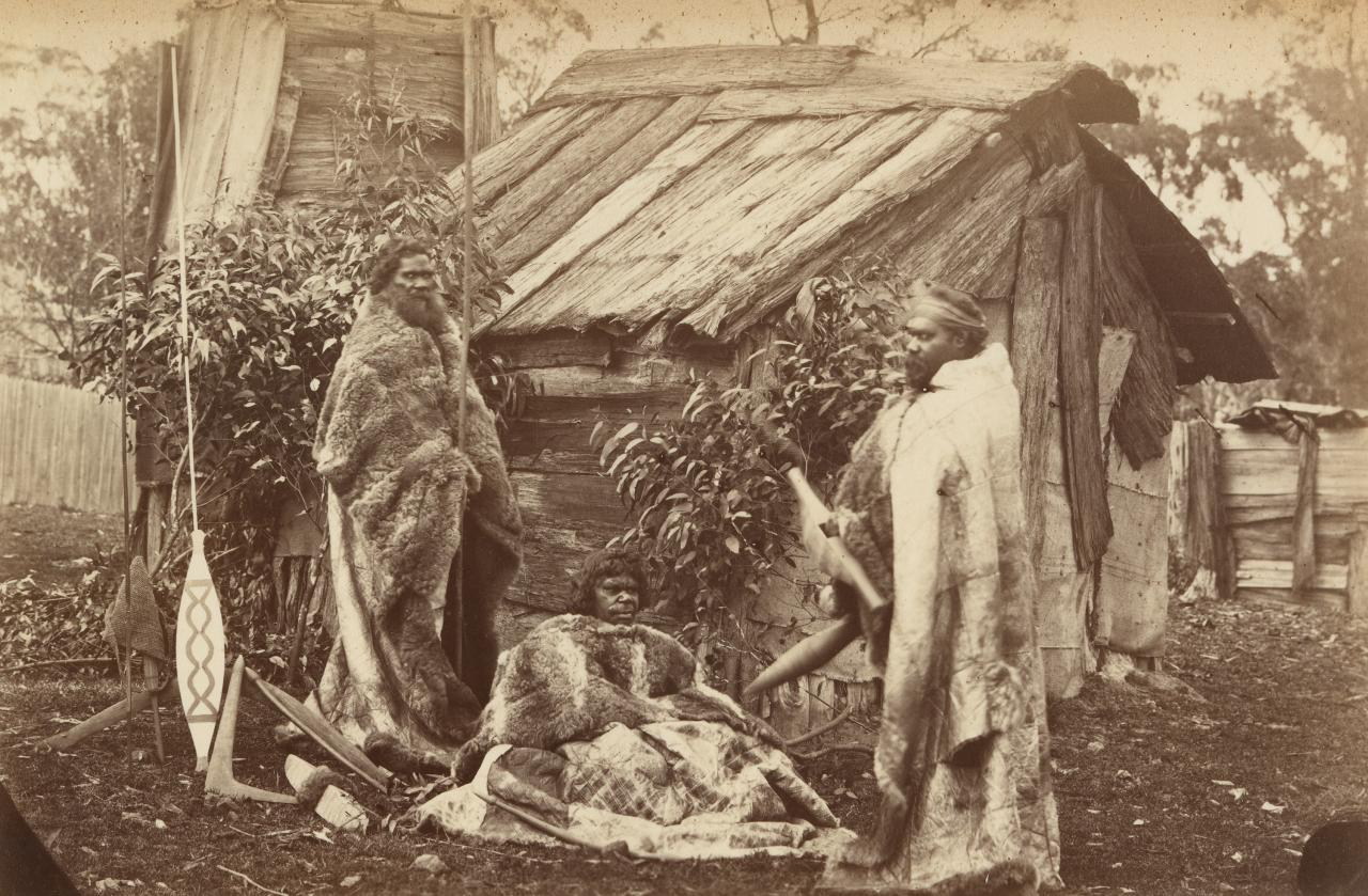 No title (Victorian Aborigines and hunting implements)