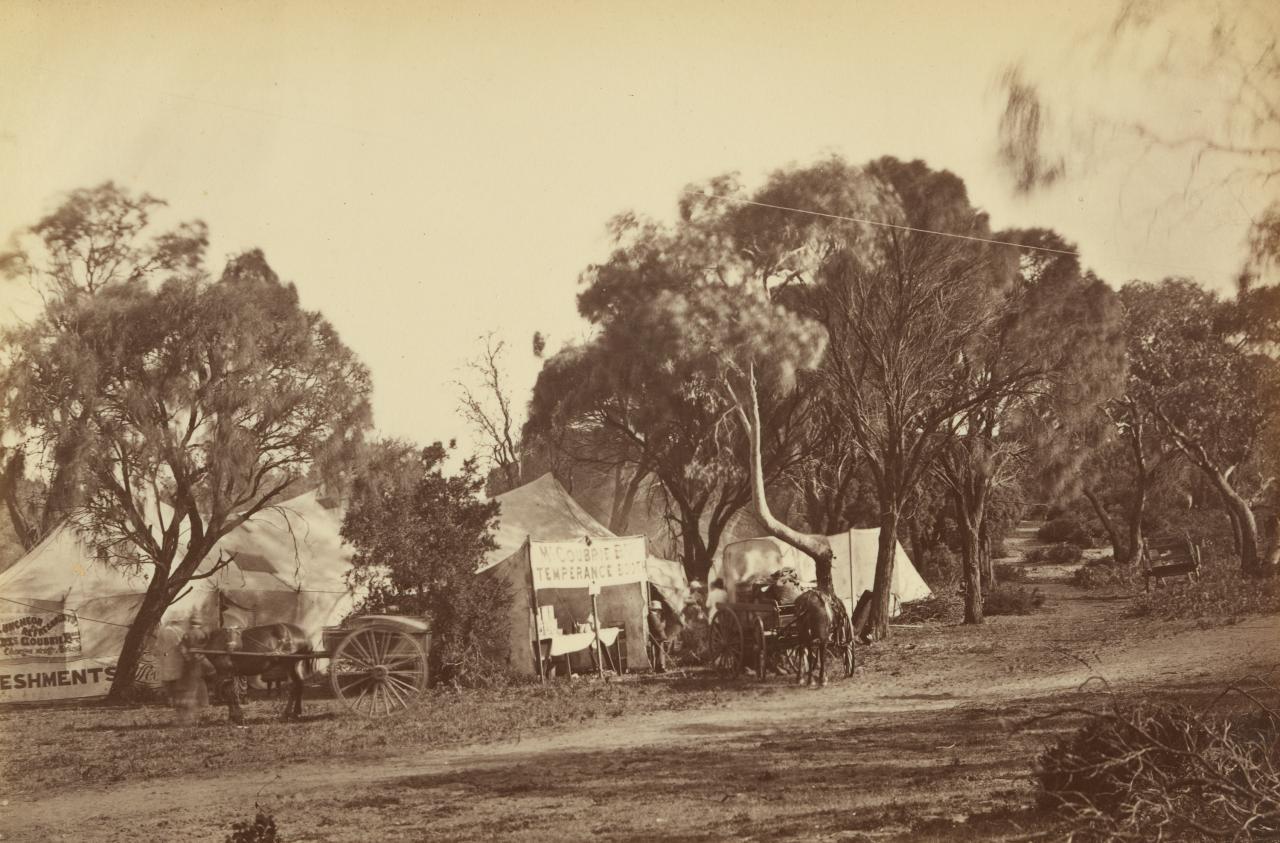 Scene, camp meeting, near Point Lonsdale