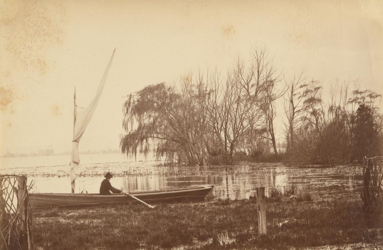 Winter scene, Lake Wendouree, from Botanic Gardens, Ballarat