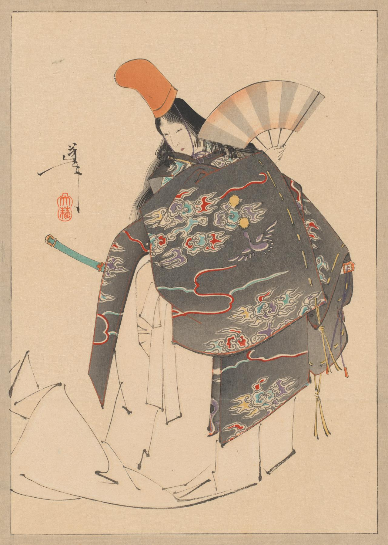Empress Jingu in male dress