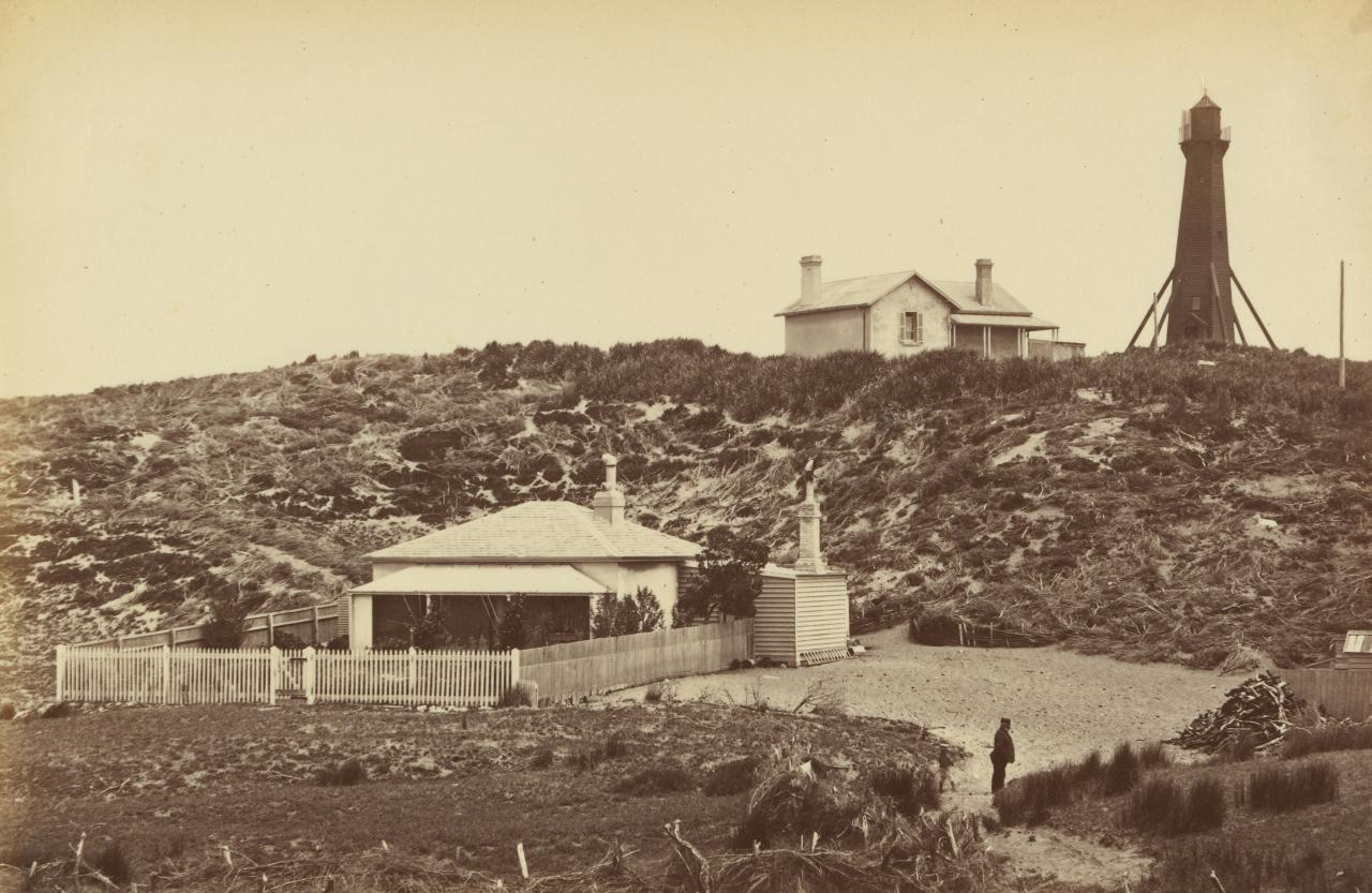 Cottages and lighthouse, Point Lonsdale