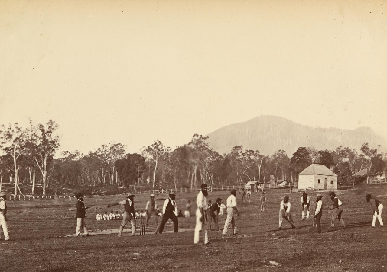Aboriginal cricketers at Coranderrk