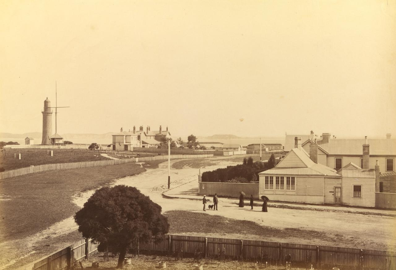 Lighthouse, post and telegraph office, Point Nepean, and police station, Queenscliff