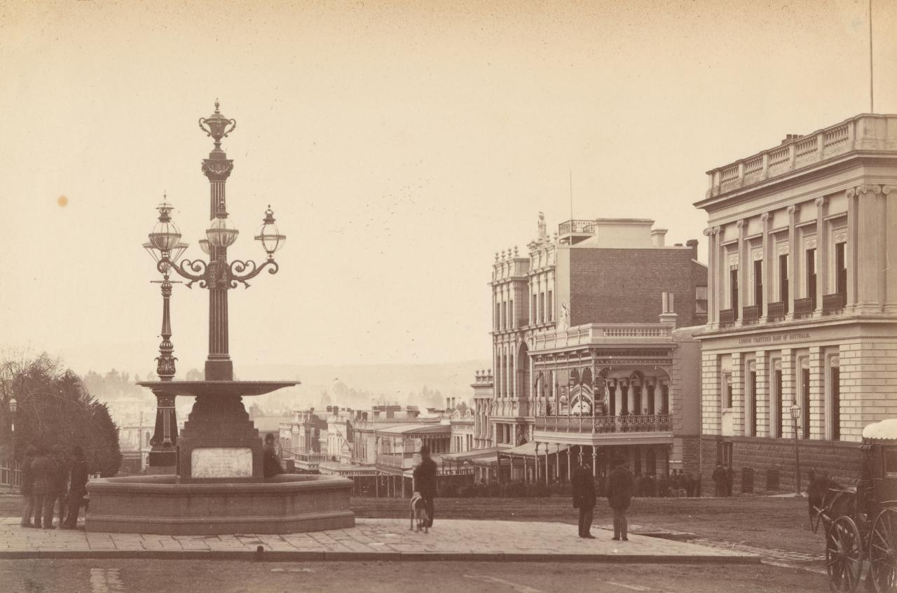 Bridge Street, looking east, from Sturt Street, Ballarat