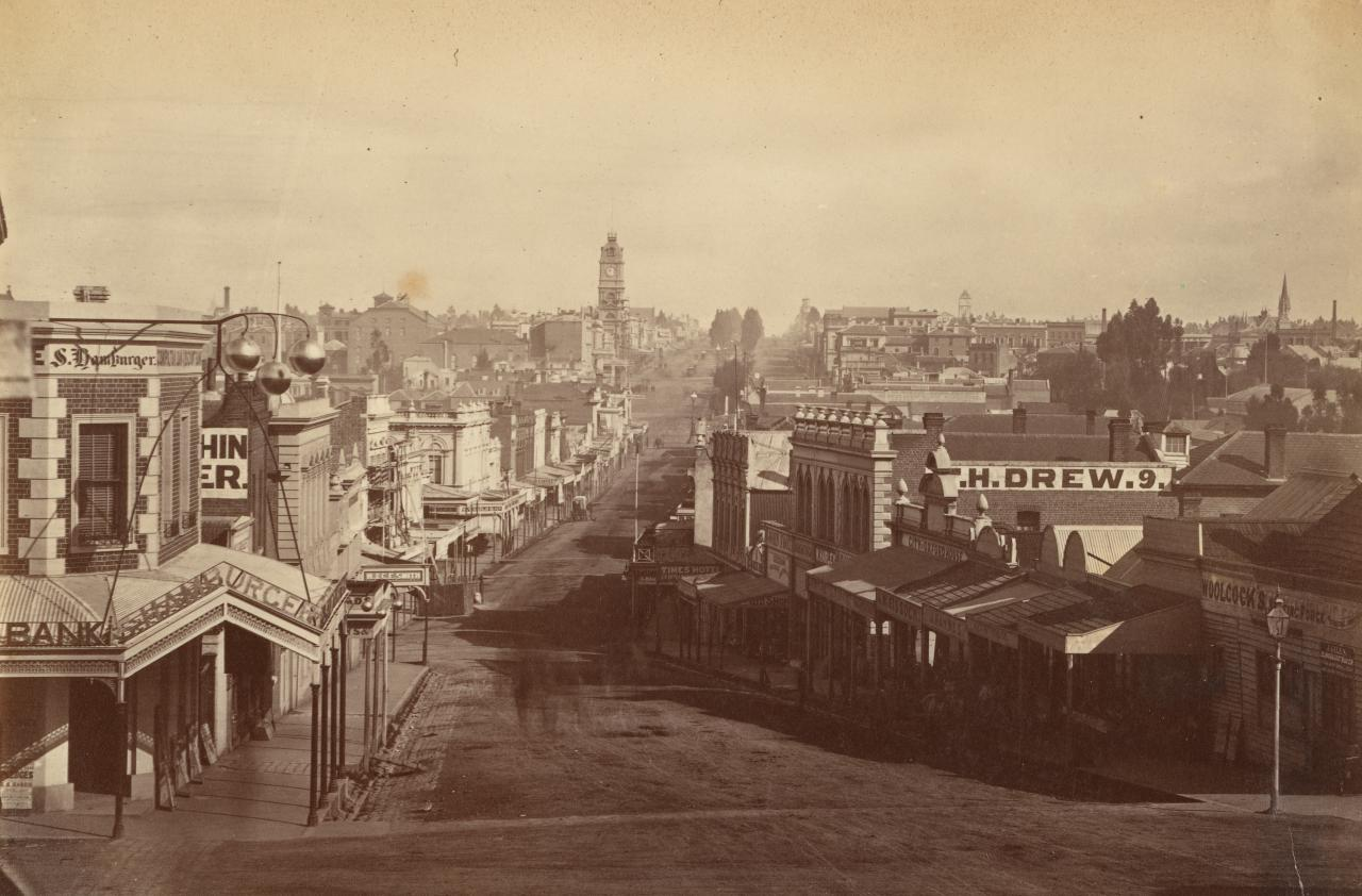 View of Ballarat, looking west, from Victoria Street