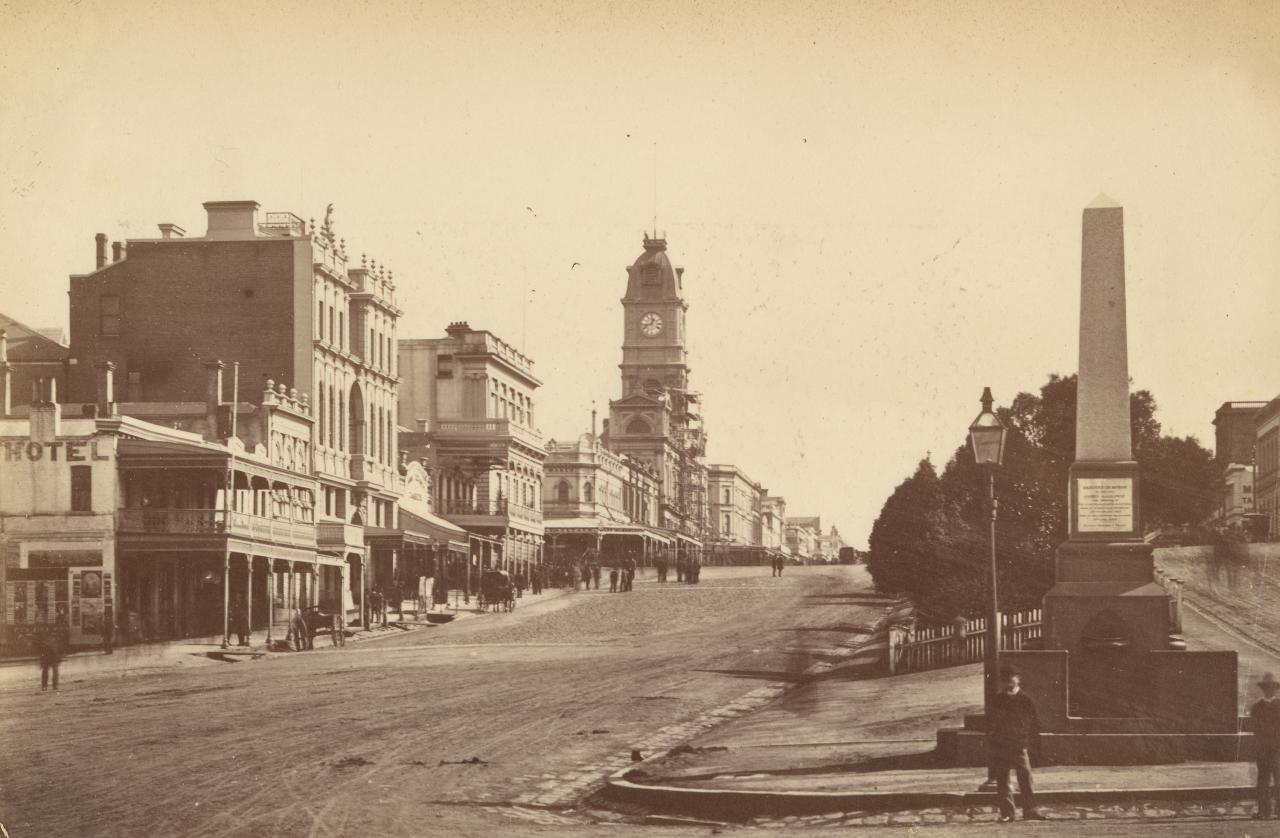 Sturt Street looking west from Bridge Street, Ballarat