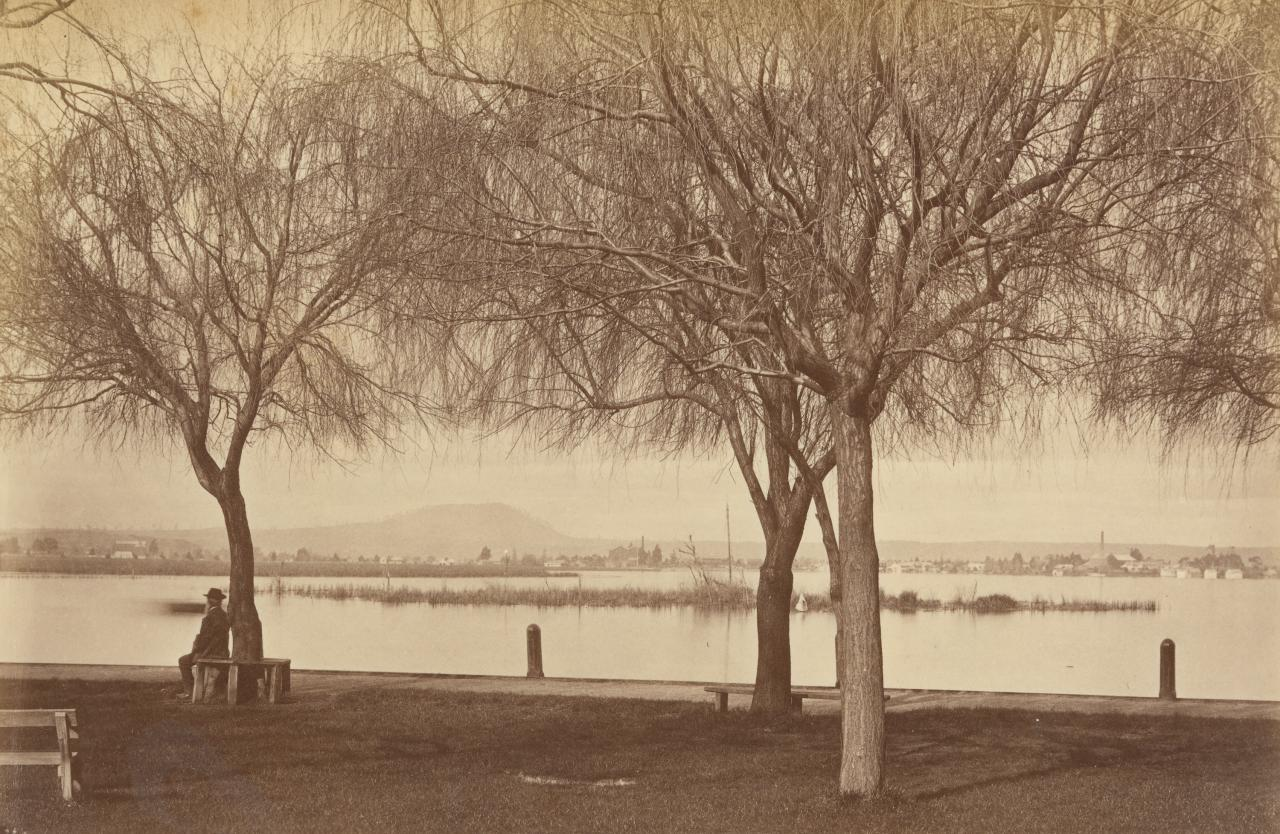 No title (Winter scene, Lake Wendouree, from Botanic Gardens, Ballarat)