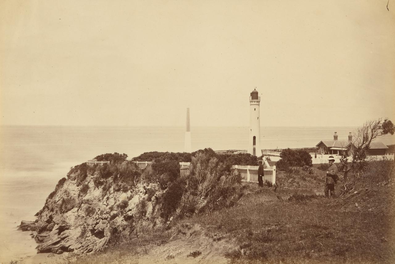 Obelisk, lower lighthouse and quarters, Queenscliff
