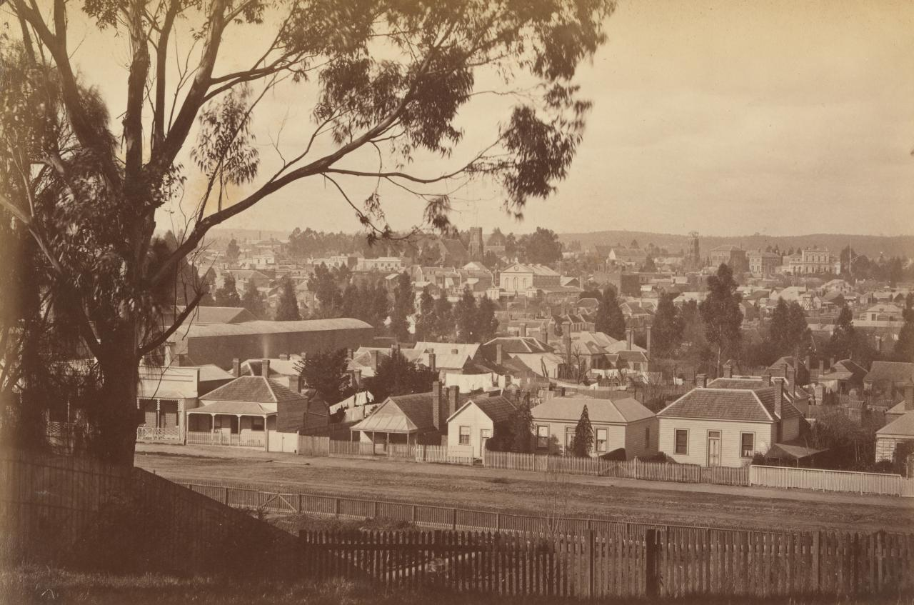 View of Ballarat East, as seen from School of Mines, Ballarat