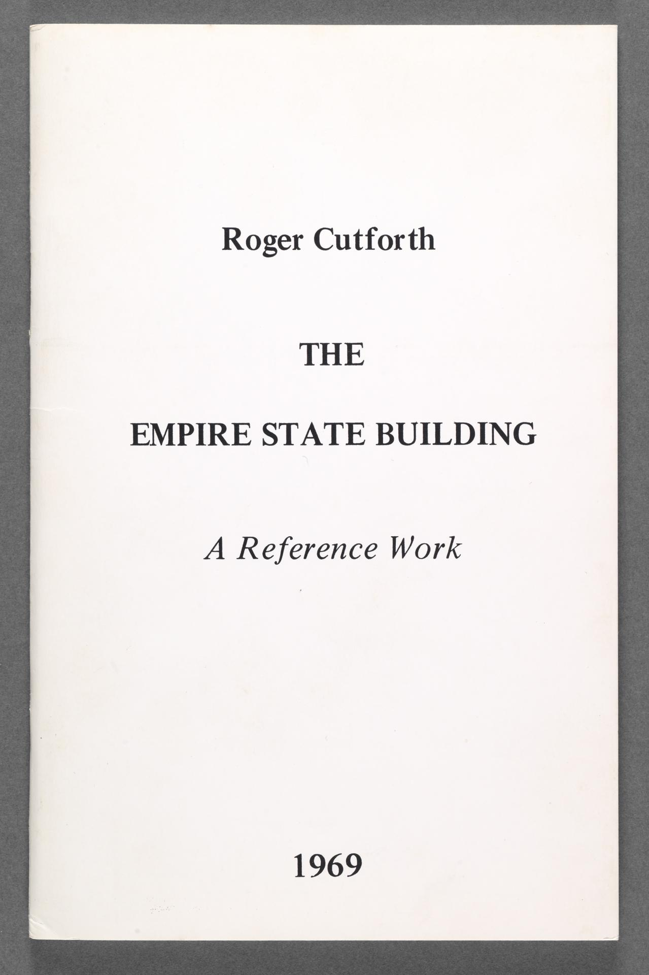 The Empire State Building, a reference work 1969
