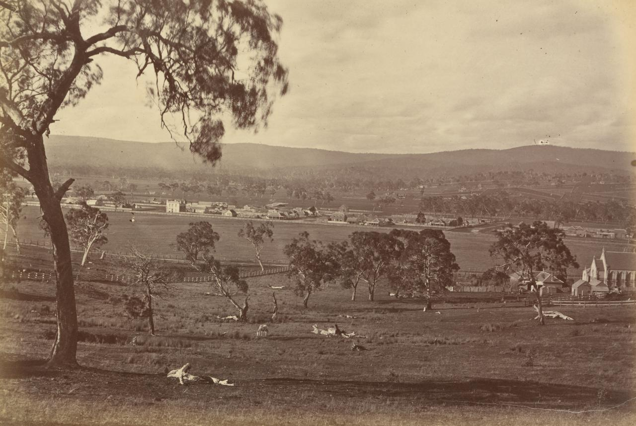 Township of Whittlesea, at foot of Plenty Mountains