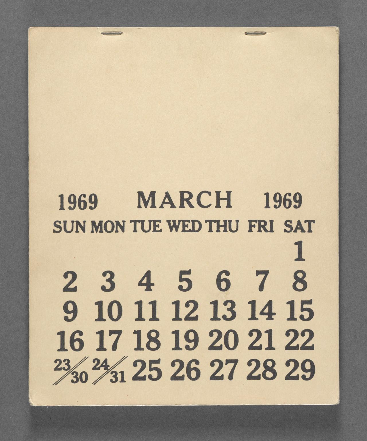 March 1–31 1969