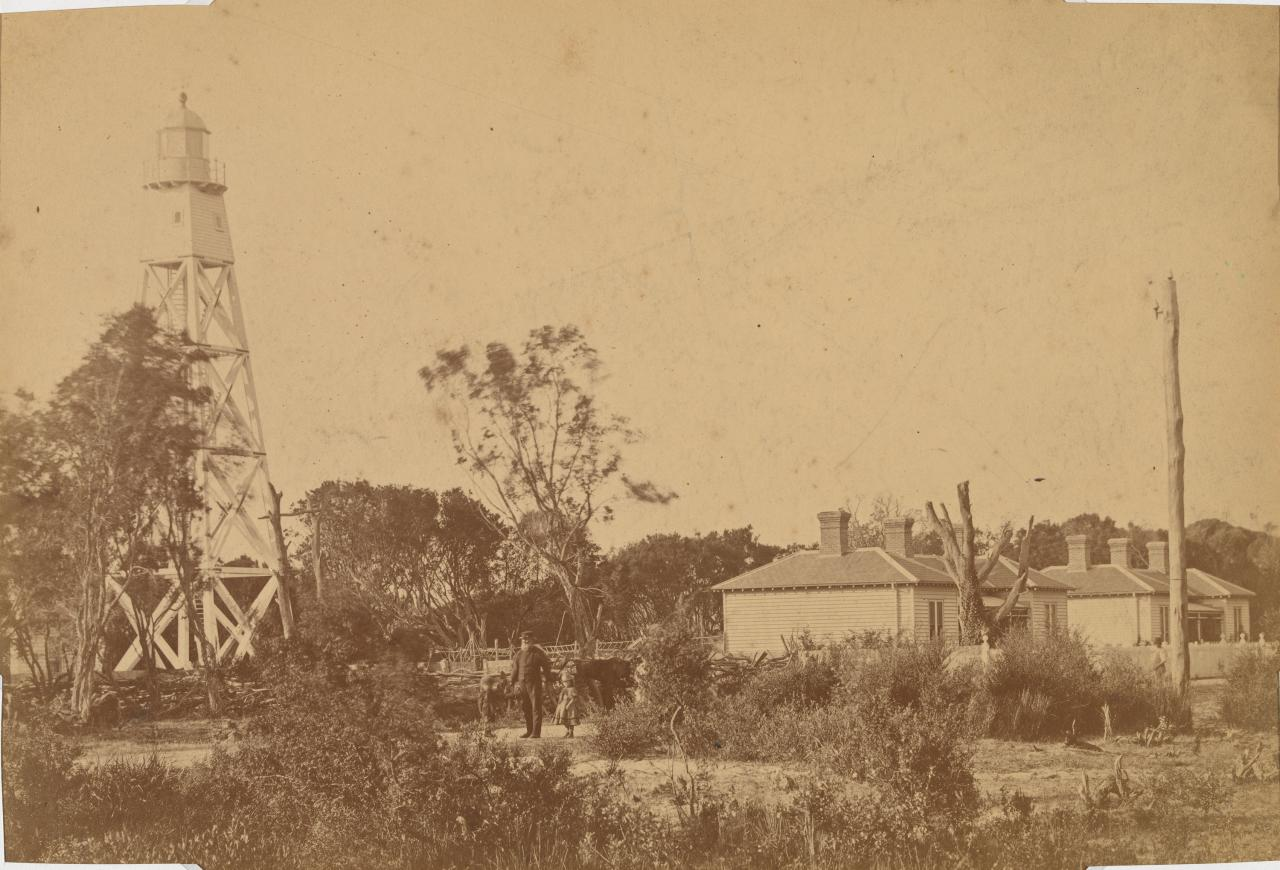 New Pile Lighthouse and quarters, near Dromana