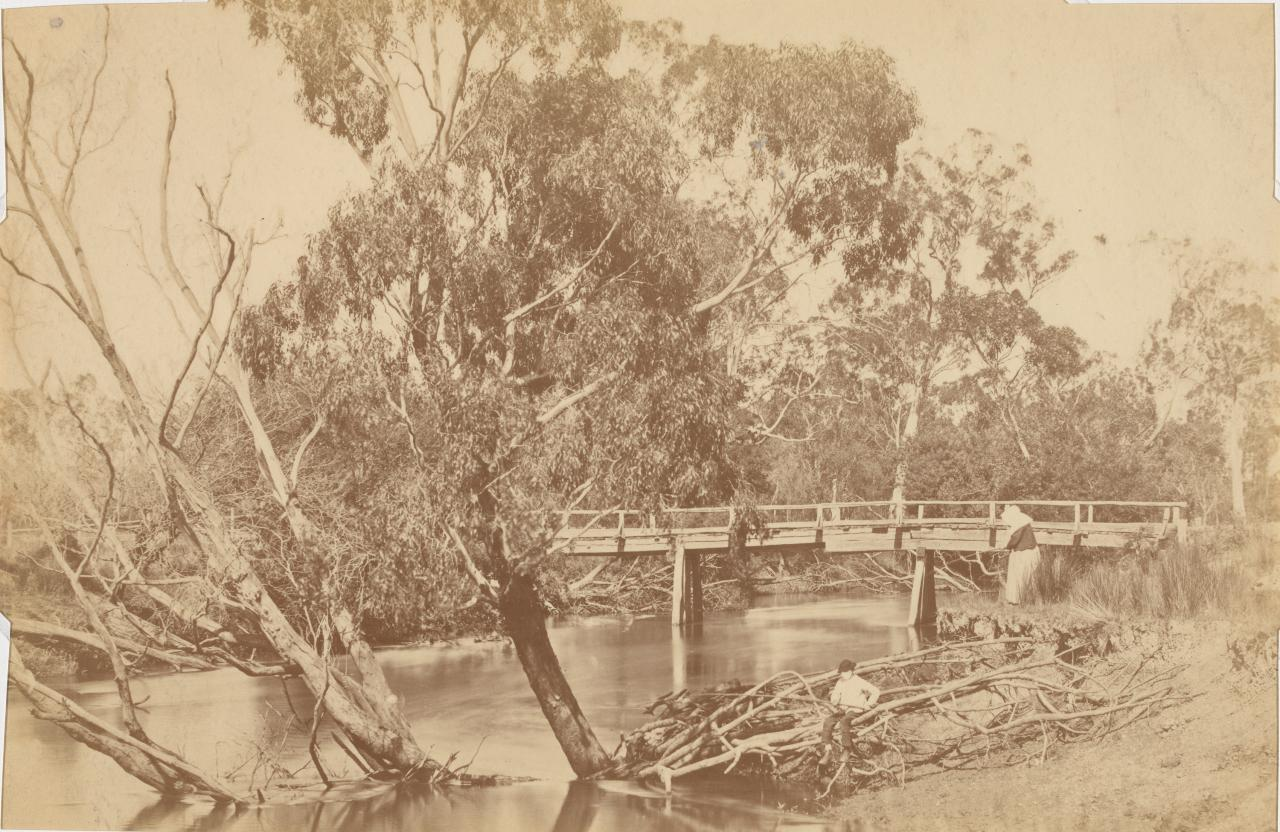 Rustic bridge, Yarra Flats