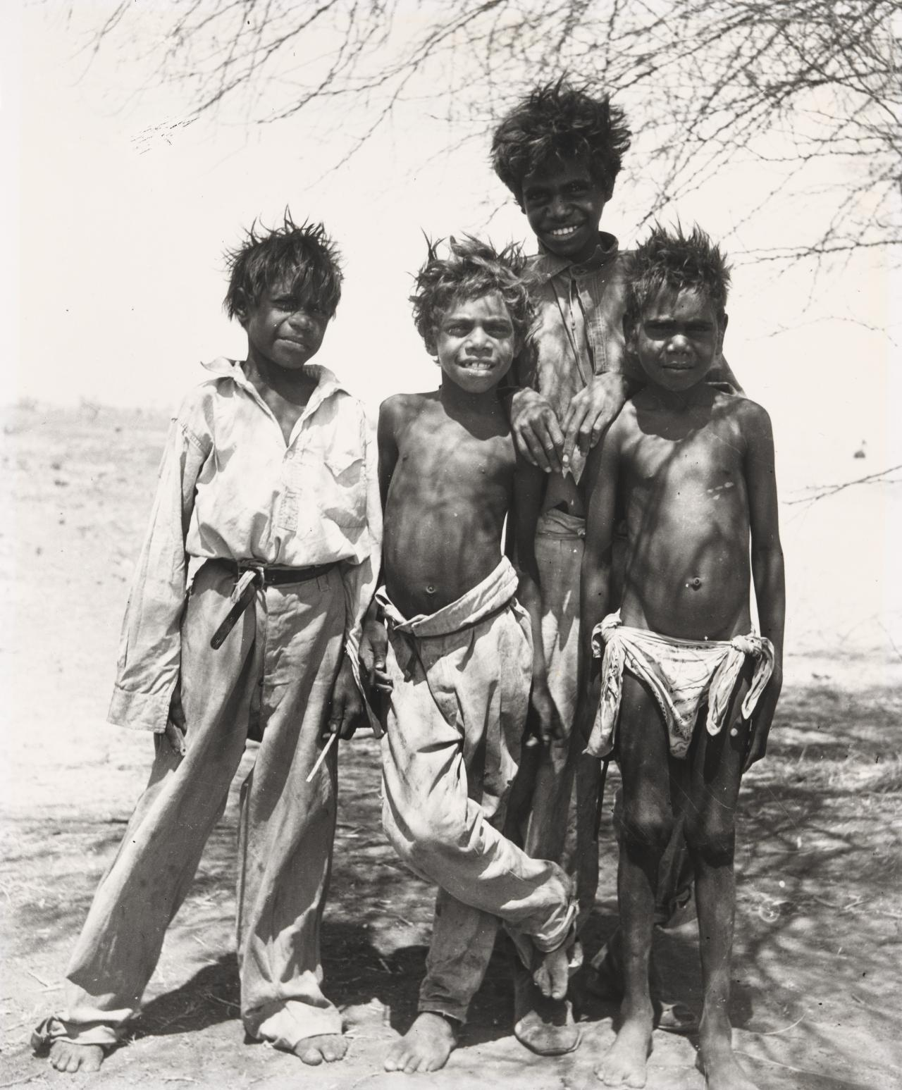 No title (Group of Aboriginal boys, Wave Hill Station, Northern Territory)