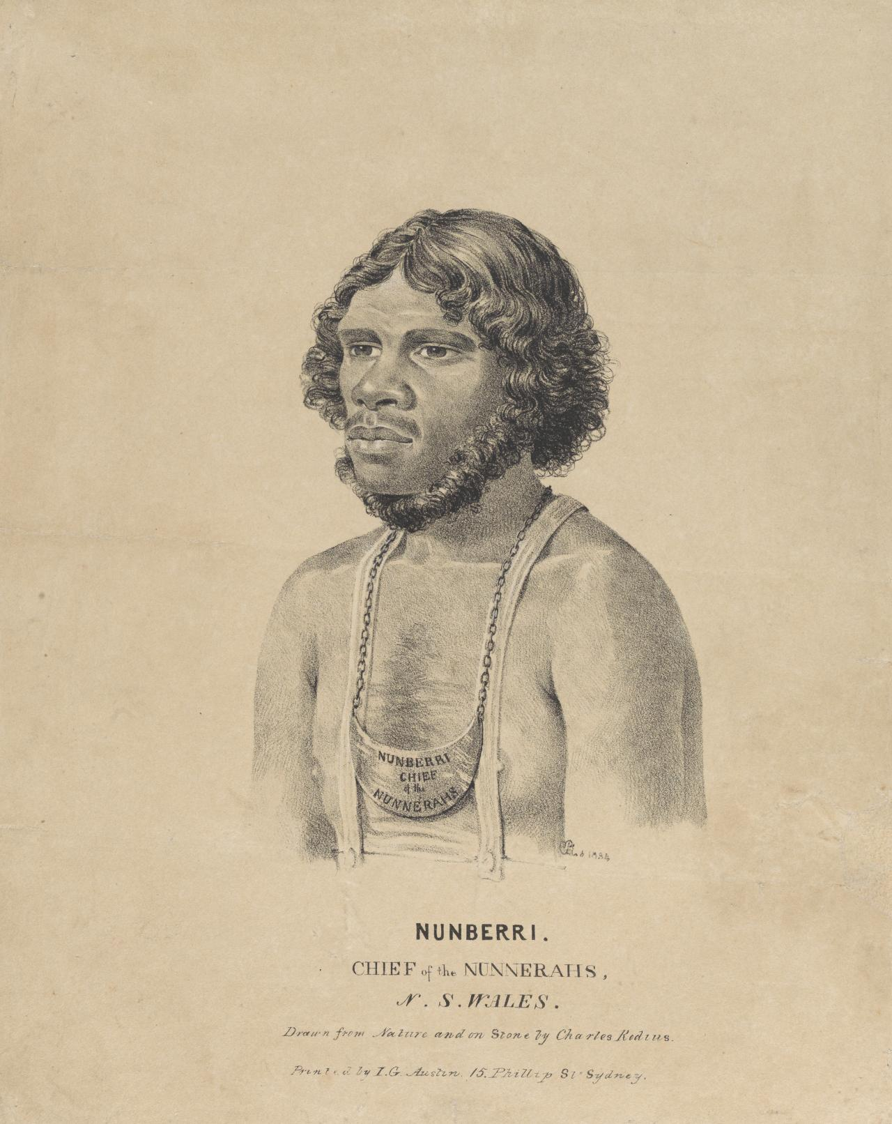 Nunberri, Chief of the Nunnerahs, N. S. Wales
