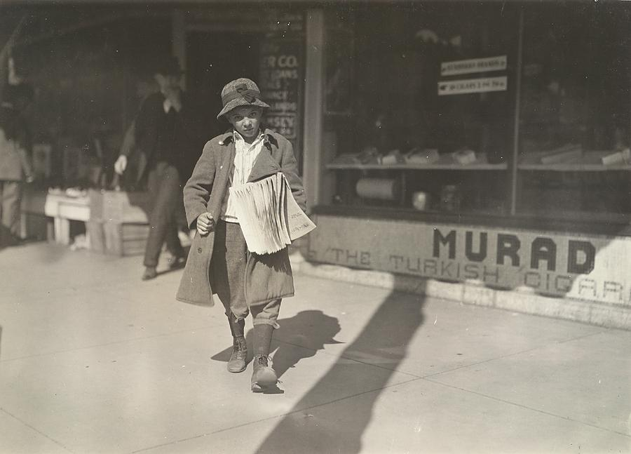 Sam Pine, 8 year old truant newsboy who lives at 717 West California Street