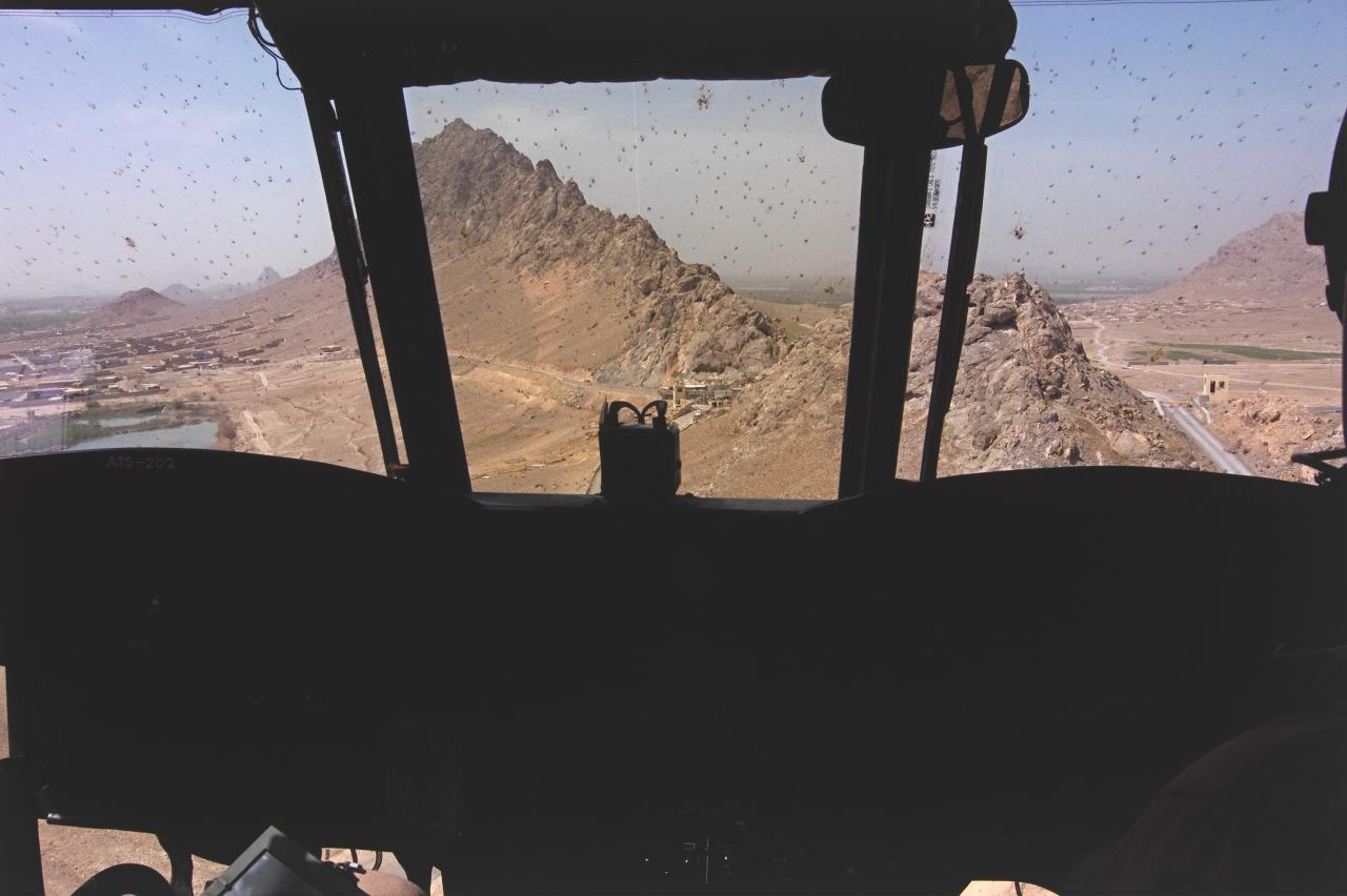 View from Chinook, Helmand Province, Afghanistan