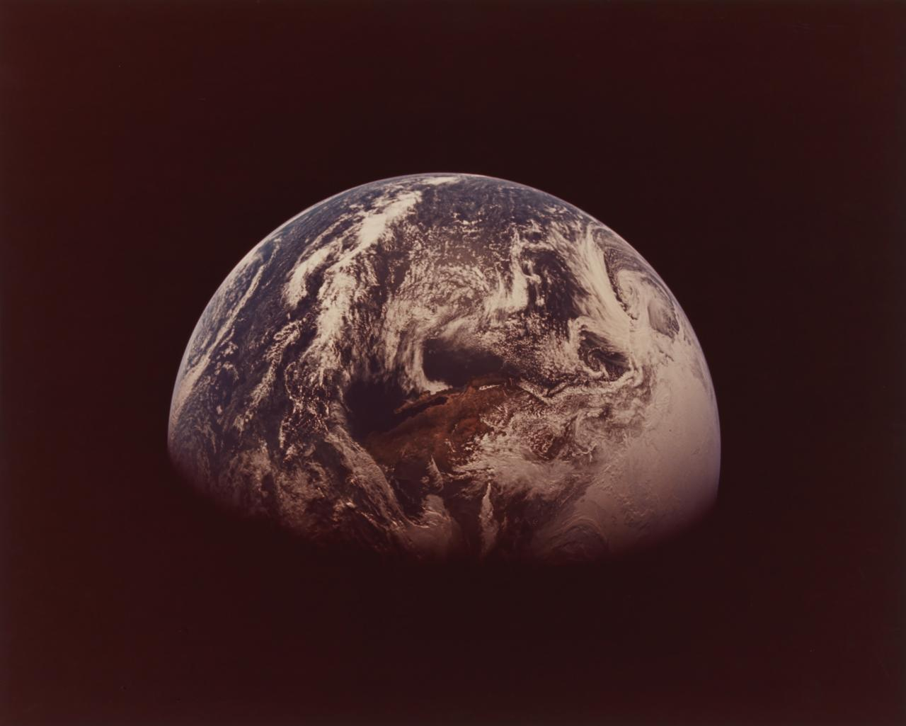 Apollo 13 view of Earth. Southwestern United States and northwestern Mexico. April 1970
