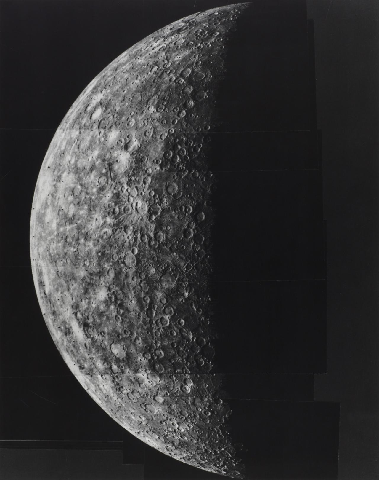 Photomosaic of Mercury made 29 March 1974