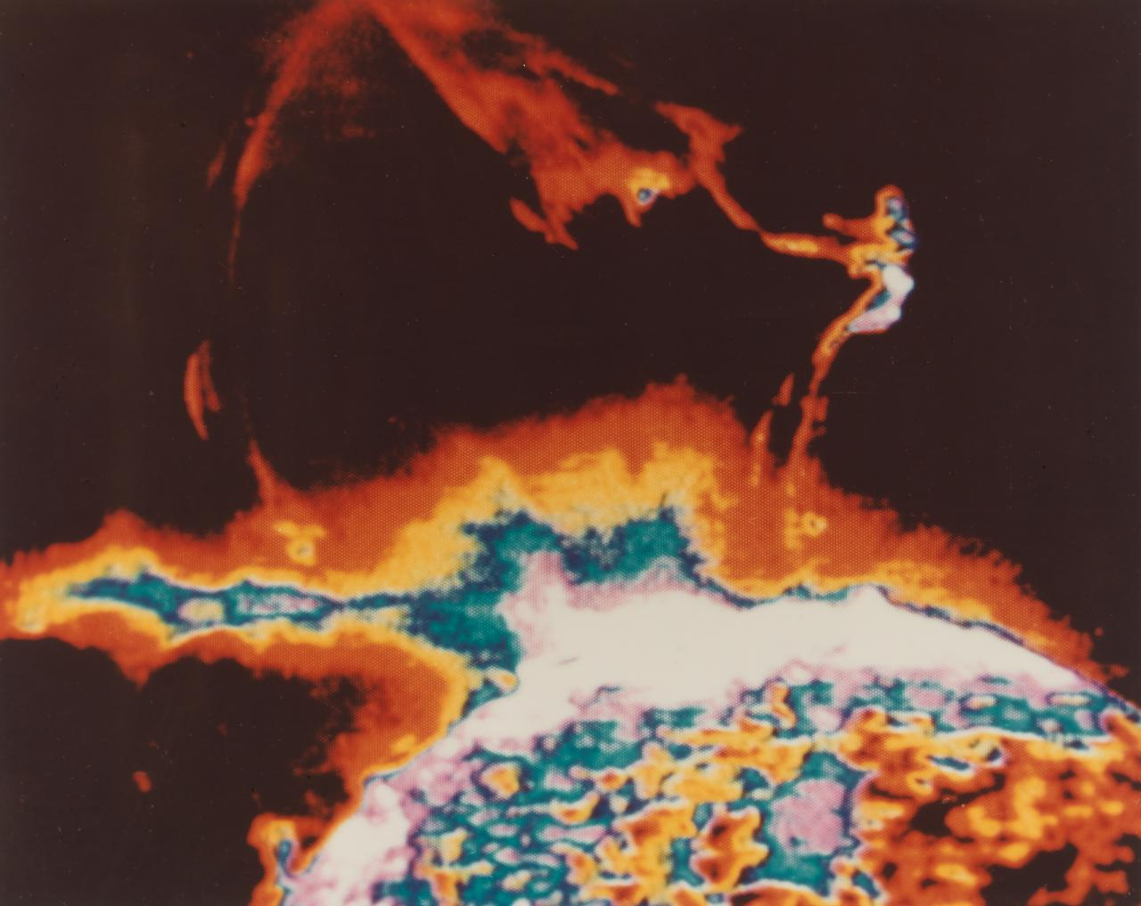 Colour density rendition of solar eruption. July-September 1973