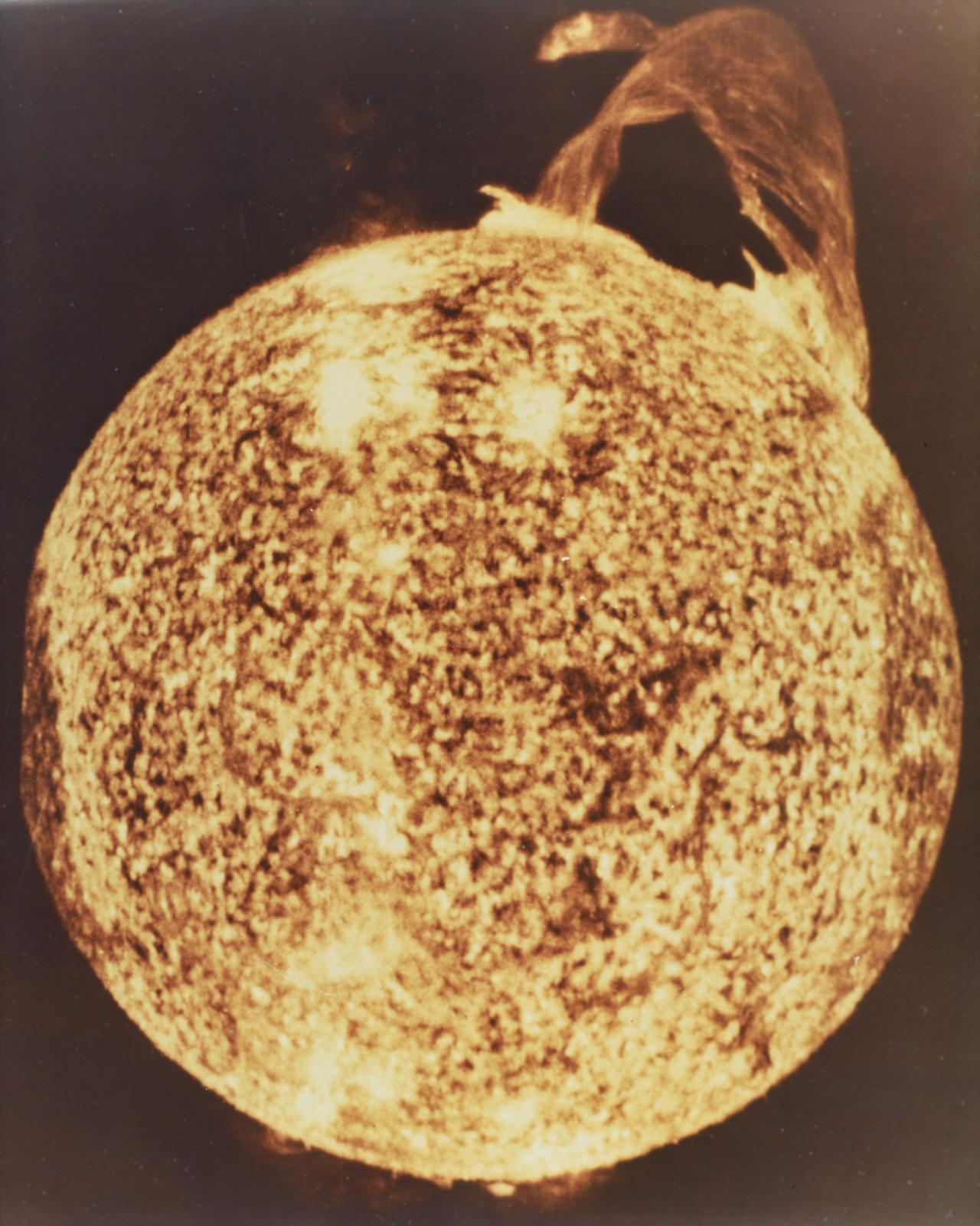 December 1973 solar flare recorded by NASA Skylab 6.