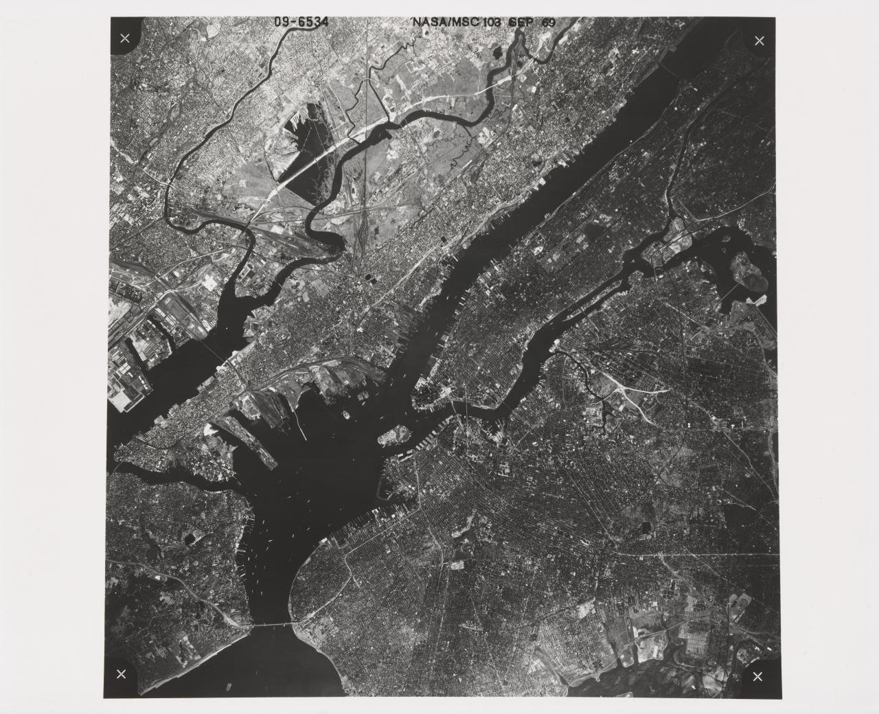 High altitude photo of New York City, New York