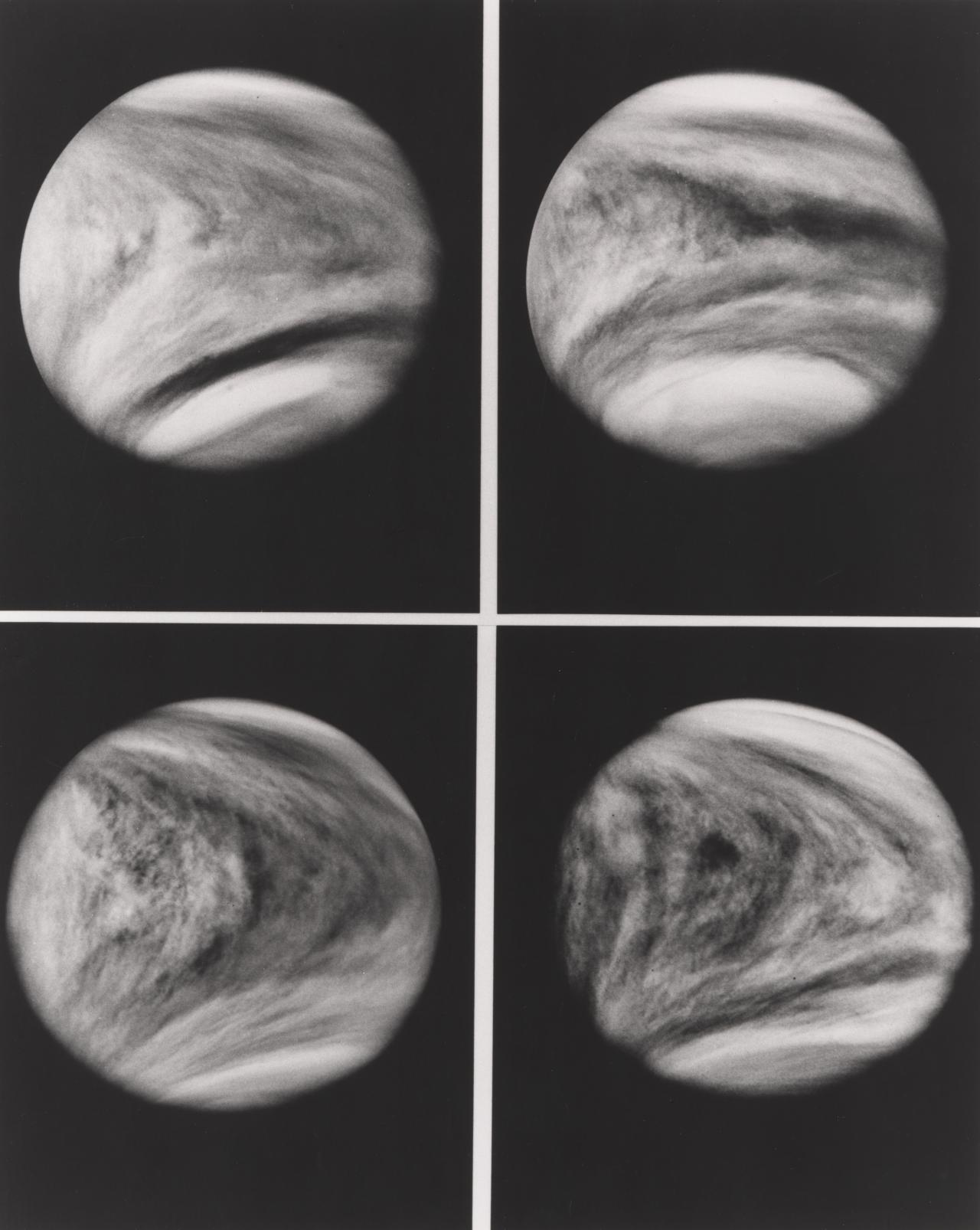 Four progressive images of Venus in rotation