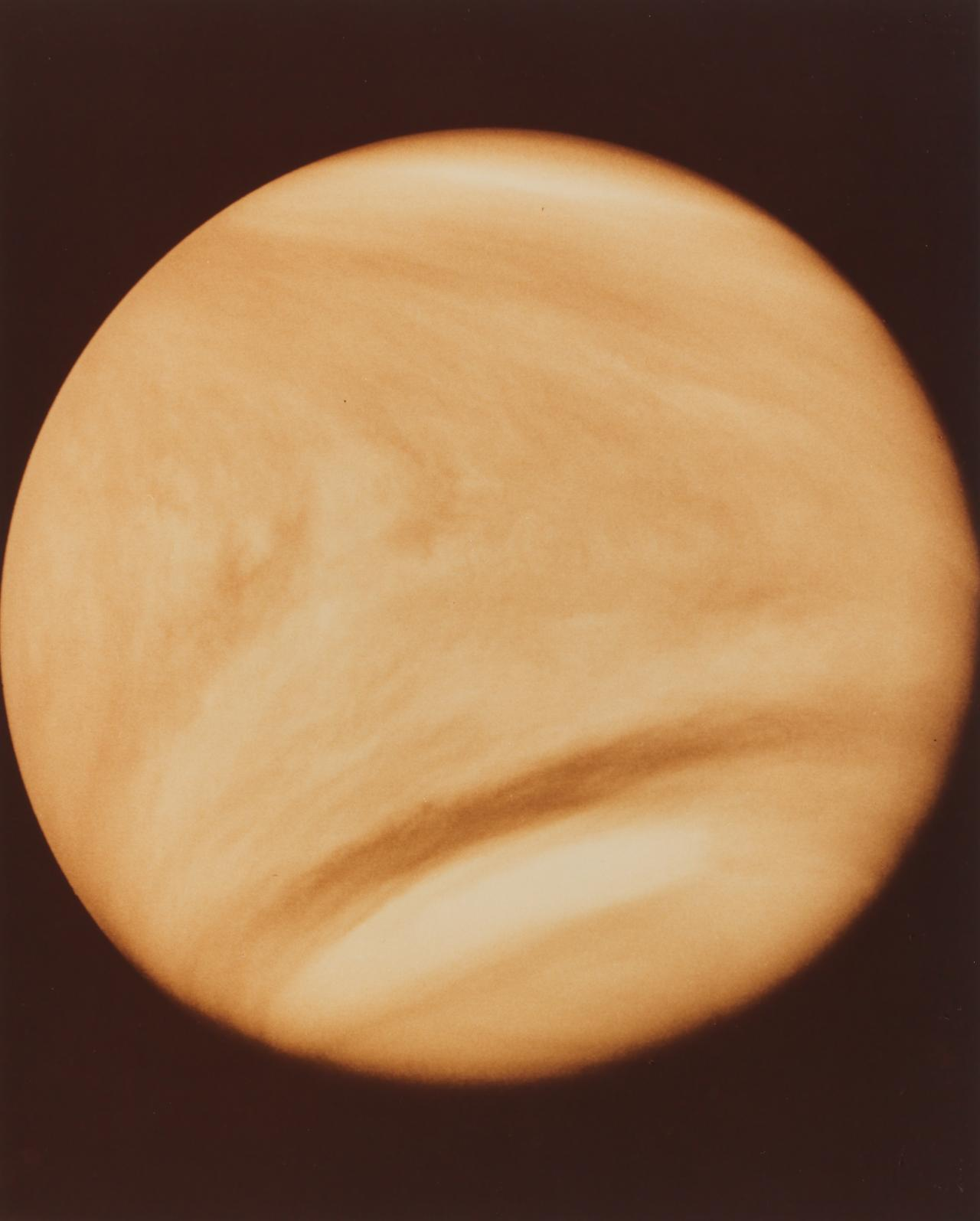 Full disk of Venus taken by Pioneer Venus Orbiter on 10 February 1979