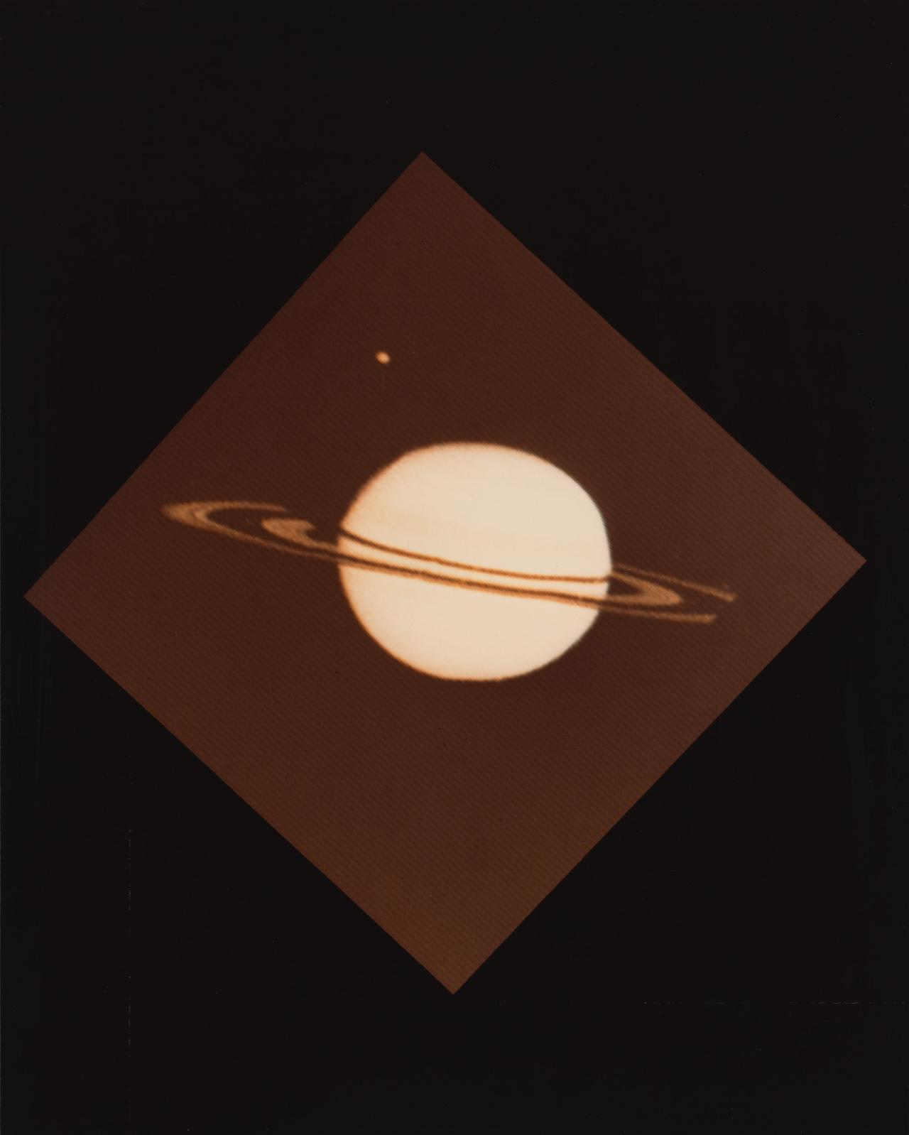 Pioneer 11's image of Saturn and its moon Titan, 3.19pm. PDT. 29 August