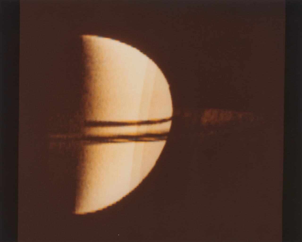 Outbound view of Saturn after first encounter by Pioneer